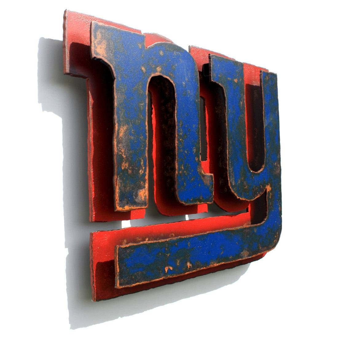 Beautiful Nfl Ticket Wall Art Best Football Room Decor Wall Ideas Intended For Best And Newest New York Metal Wall Art (View 5 of 20)