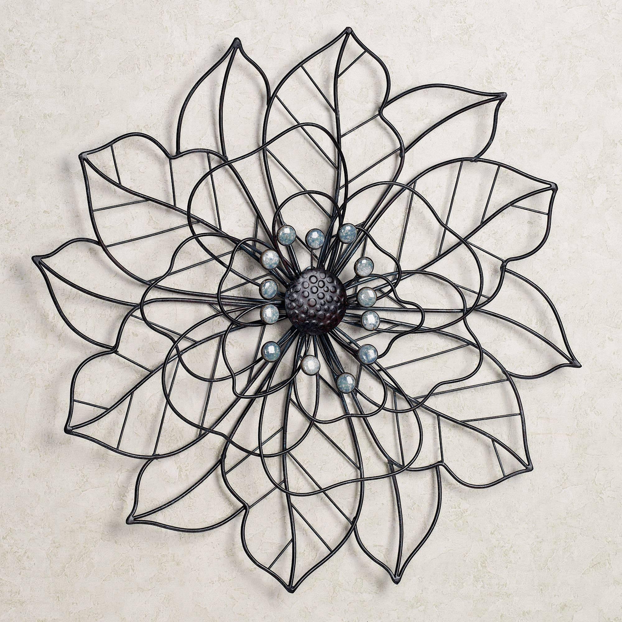 Beauty In Bloom Flower Blossom Metal Wall Art In Most Popular Flower Metal Wall Art (View 2 of 20)