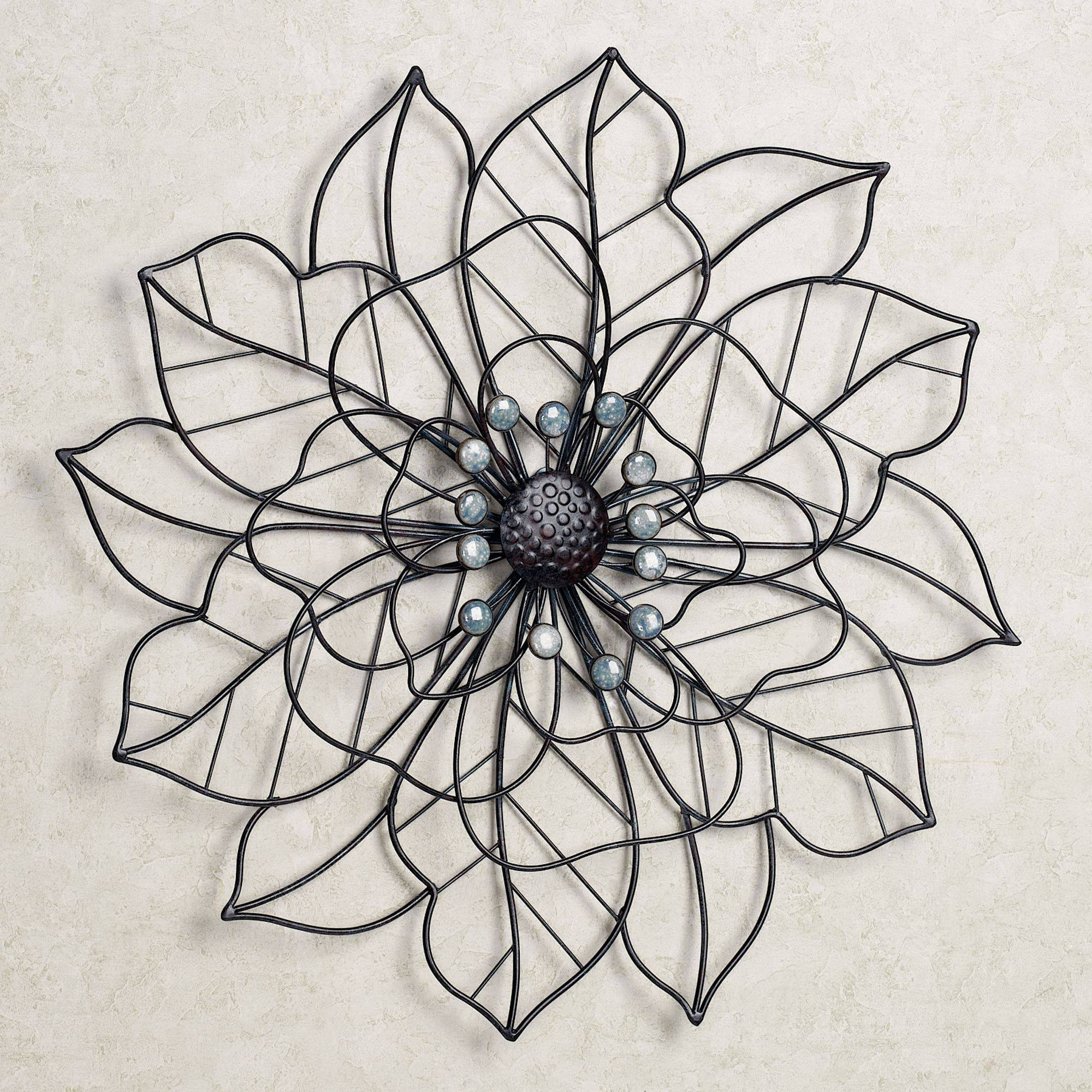 Beauty In Bloom Flower Blossom Metal Wall Art Inside Newest Black And White Metal Wall Art (View 16 of 20)