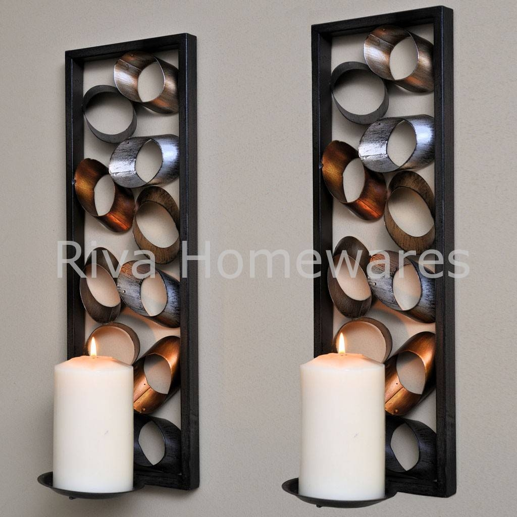 Featured Photo of Metal Wall Art Candle Holder