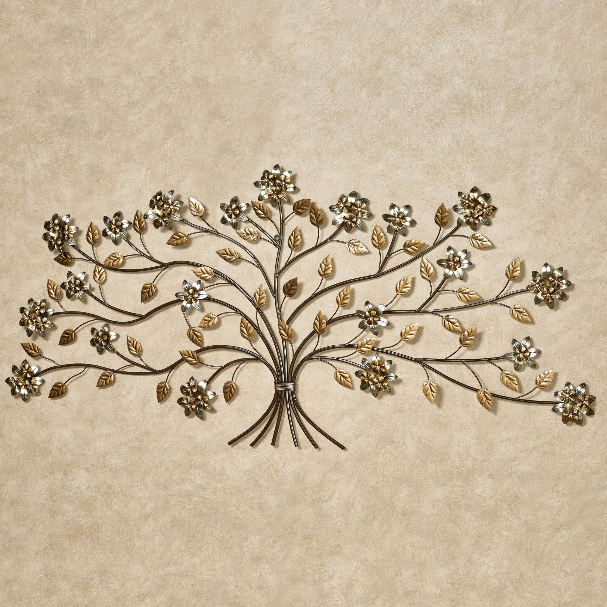 Bellissa Floral Branch Metal Wall Art – 59 Inches Wide Inside Current Branches Metal Wall Art (View 4 of 20)