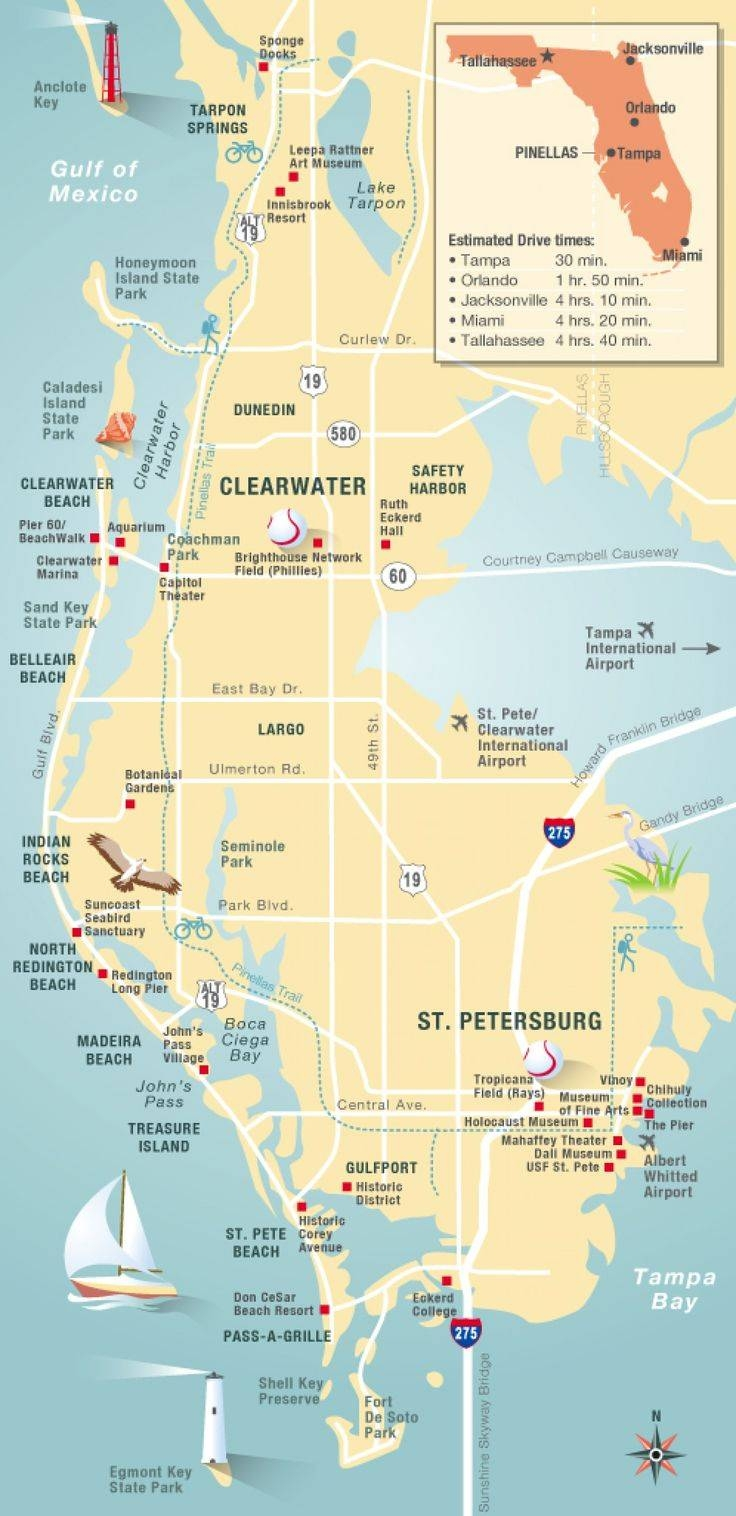 Best 25+ Florida Maps Ideas On Pinterest   Map Of Fla, Map Of Throughout Best And Newest Florida Map Wall Art (View 1 of 20)