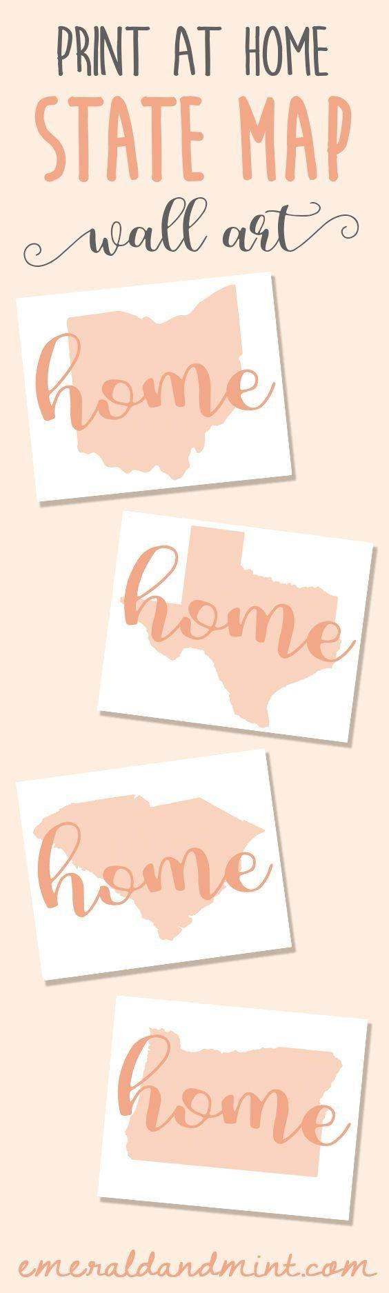 Best 25+ Map Wall Art Ideas On Pinterest | World Map Wall Art With Most Recently Released State Map Wall Art (View 19 of 20)