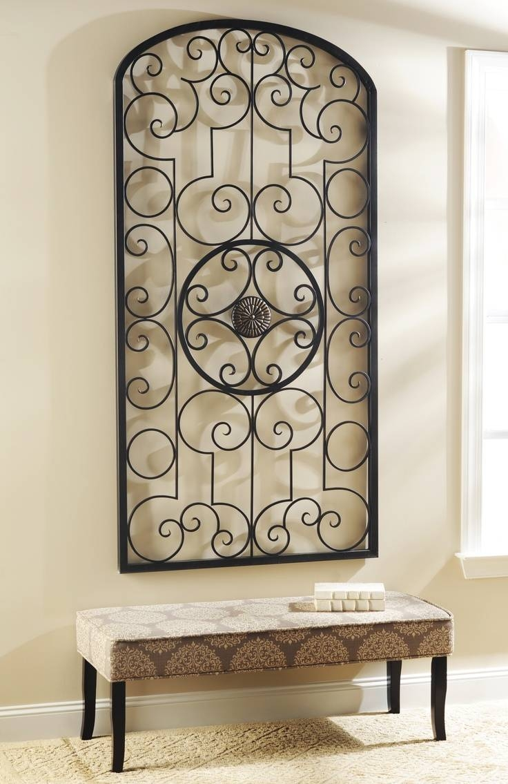 Best 25+ Metal Scroll Wall Art Ideas On Pinterest | Wall Plaques Throughout Most Recent Large Metal Wall Art And Decor (View 2 of 20)