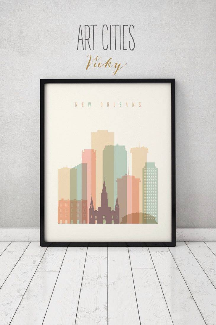Best 25+ New Orleans Skyline Ideas On Pinterest | New Orleans Throughout Latest New Orleans Map Wall Art (Gallery 19 of 20)