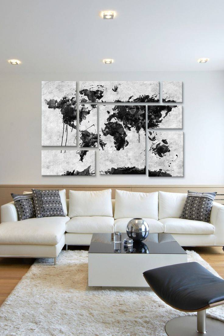 Best 25+ Panel Wall Art Ideas On Pinterest | Black Wall Art In Most Up To Date World Map Wall Artwork (View 2 of 20)