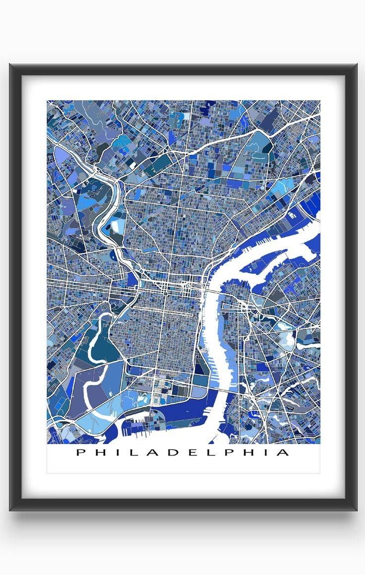 Best 25+ Philadelphia Map Ideas On Pinterest | Maps S, Map Of Intended For Most Up To Date Philadelphia Map Wall Art (View 5 of 20)
