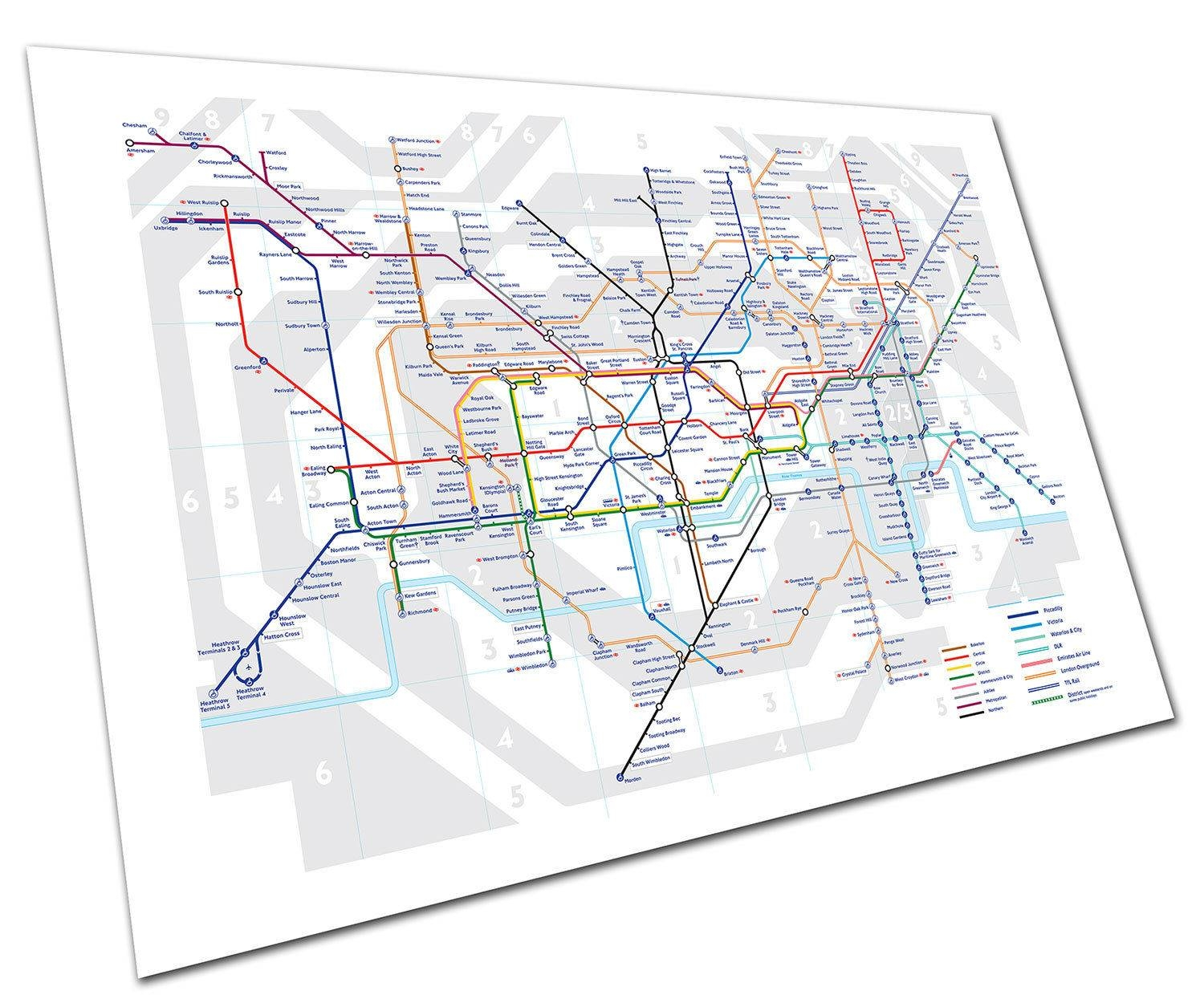 Best London Tube Map Poster Deals | Compare Prices On Dealsan.co (View 8 of 20)