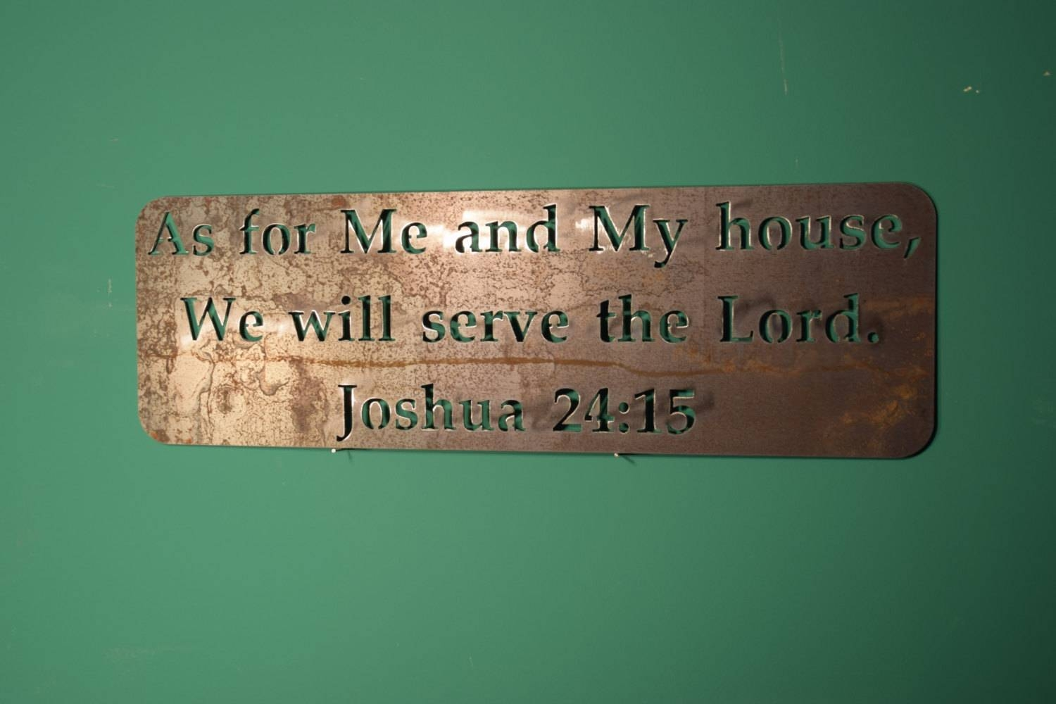 Bible Verse Wall Decor Fixer Upper Wall Decor Fixer Upper With Latest As For Me And My House Metal Wall Art (View 16 of 20)