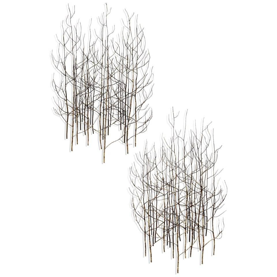 Bj Keith Metal Tree Wall Art | Ubu With Regard To Most Up To Date Black And White Metal Wall Art (View 10 of 20)