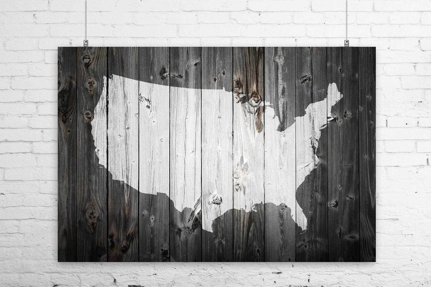 Black And White Usa Wall Map Black And White United States Map Inside Recent Framed Map Wall Art (View 3 of 20)