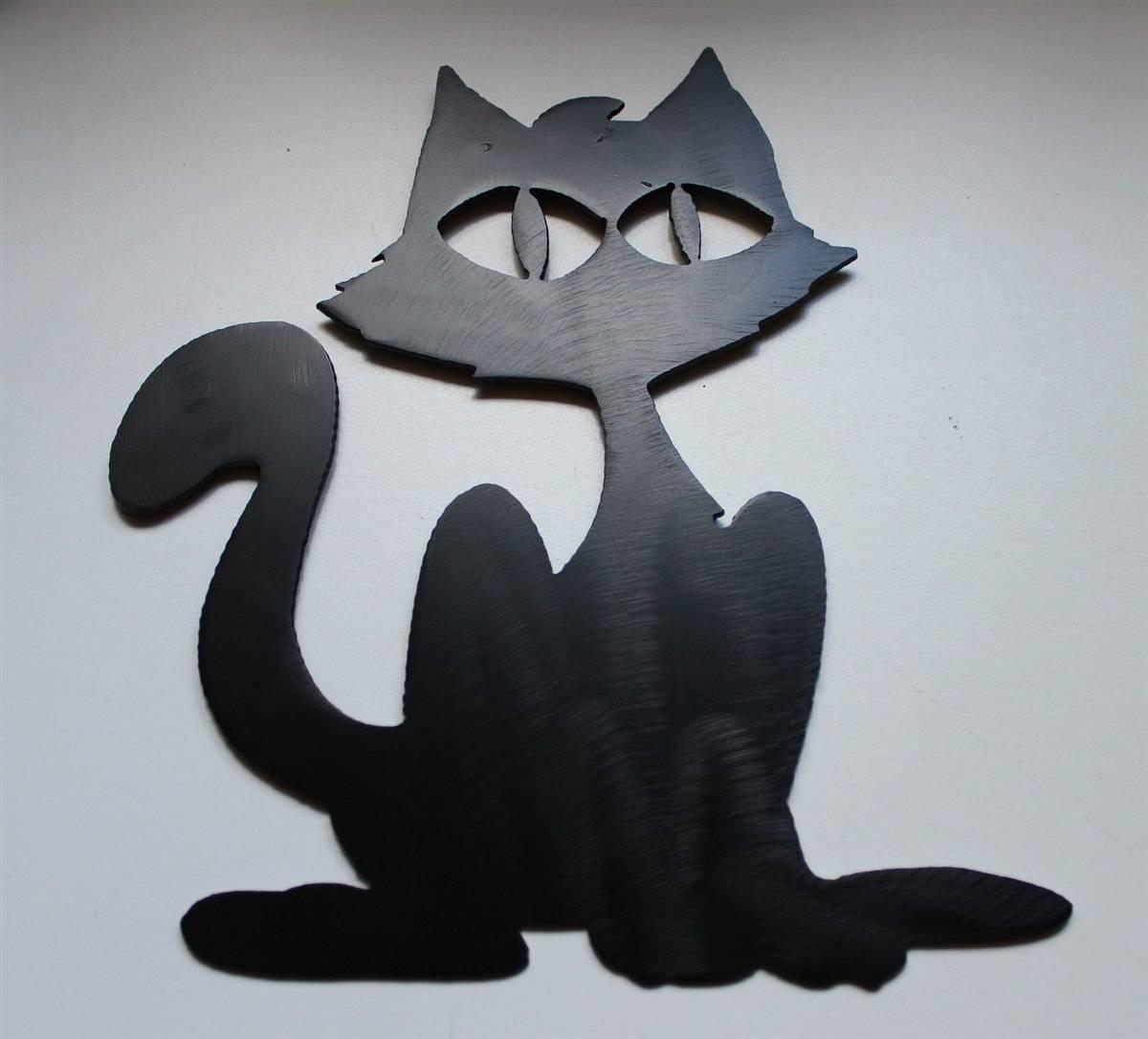 Black Cat Metal Wall Art For 2017 Cat Metal Wall Art (View 1 of 20)
