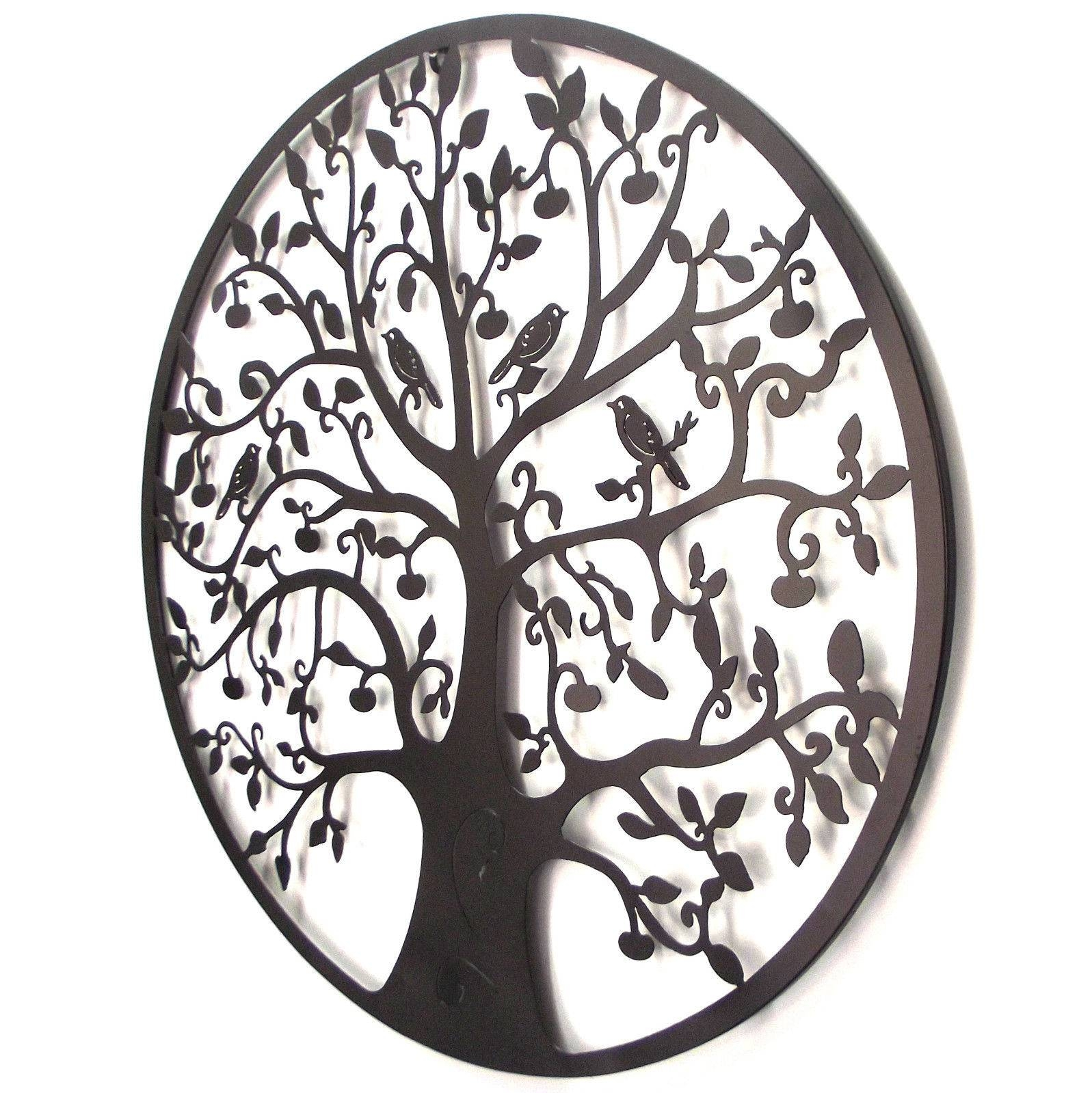 Black Tree Of Life Wall Art Hanging Metal Iron Sculpture Garden Throughout Most Recent Tree Of Life Metal Wall Art (View 1 of 20)