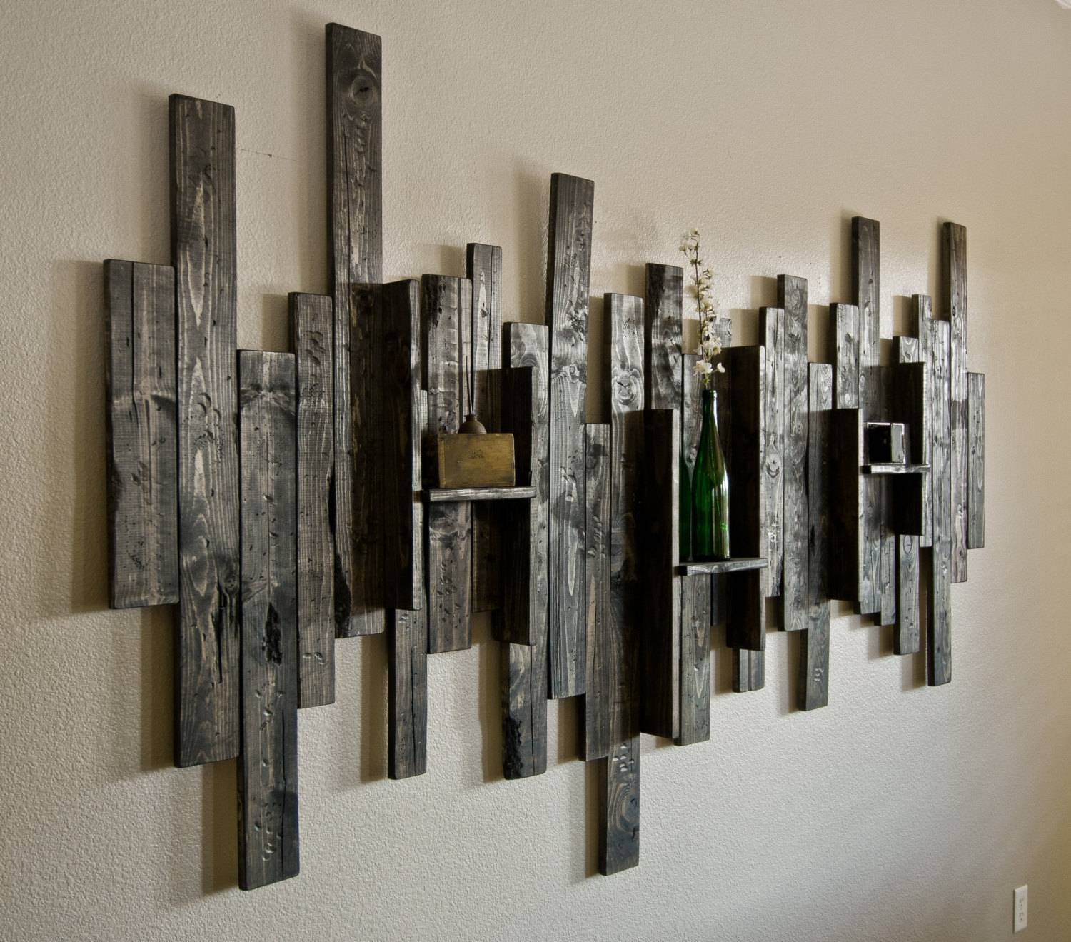 Block Wood Wall Art • Recous Regarding Best And Newest Wood Metal Wall Art (View 1 of 20)