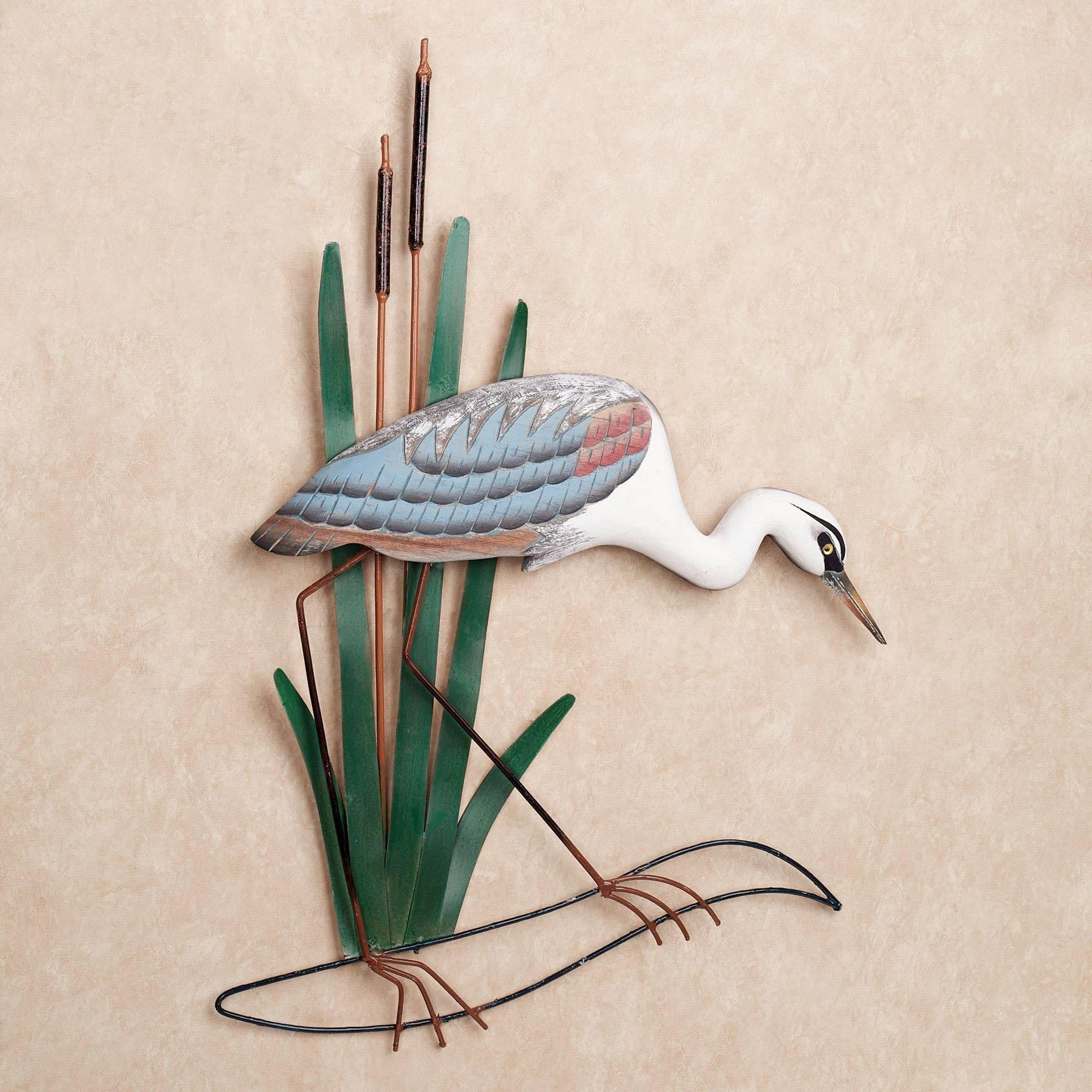 Blue Heron Head Down Wall Art In Latest Heron Metal Wall Art (View 17 of 20)