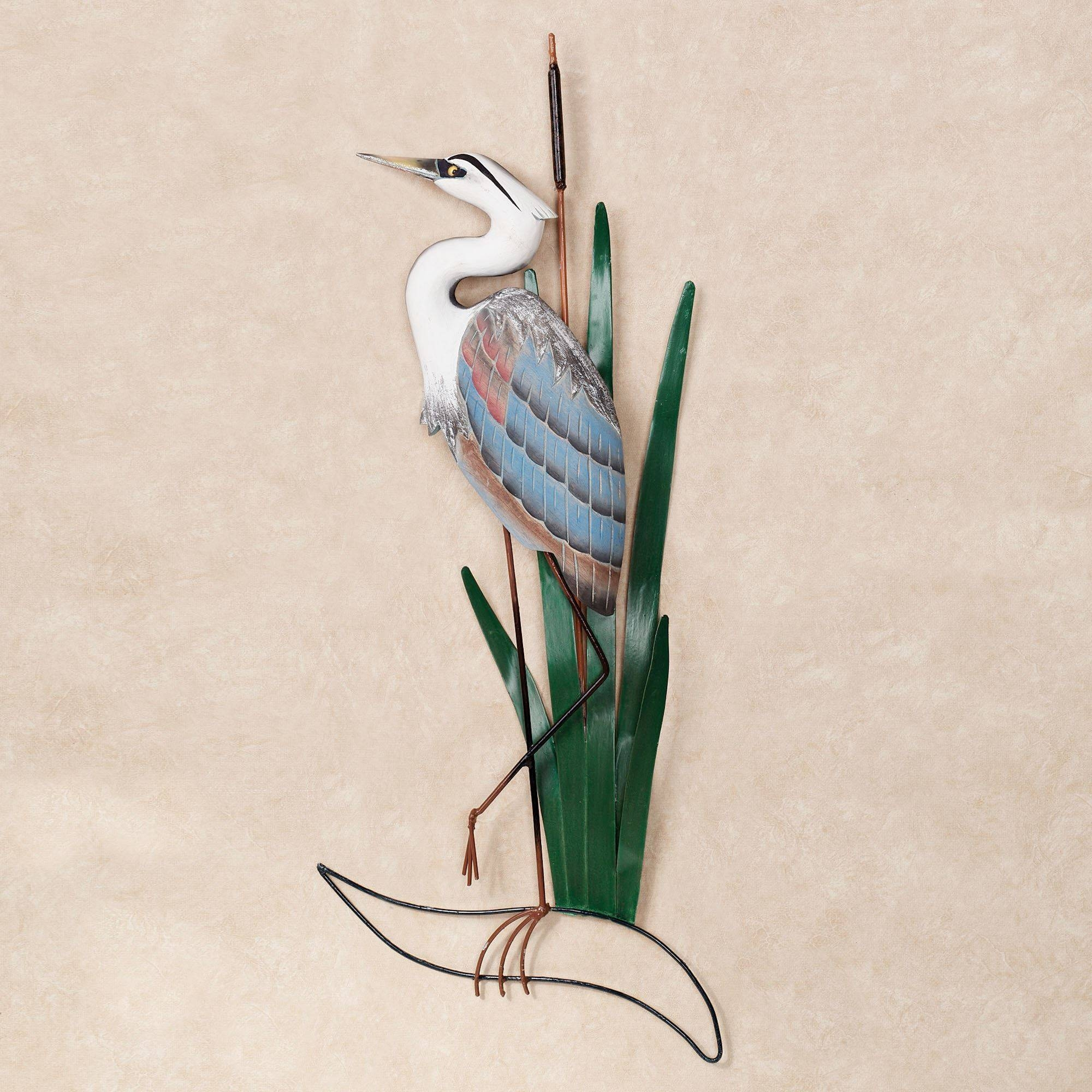 Blue Heron Head Up Wall Art Intended For Most Current Blue Heron Metal Wall Art (View 15 of 20)