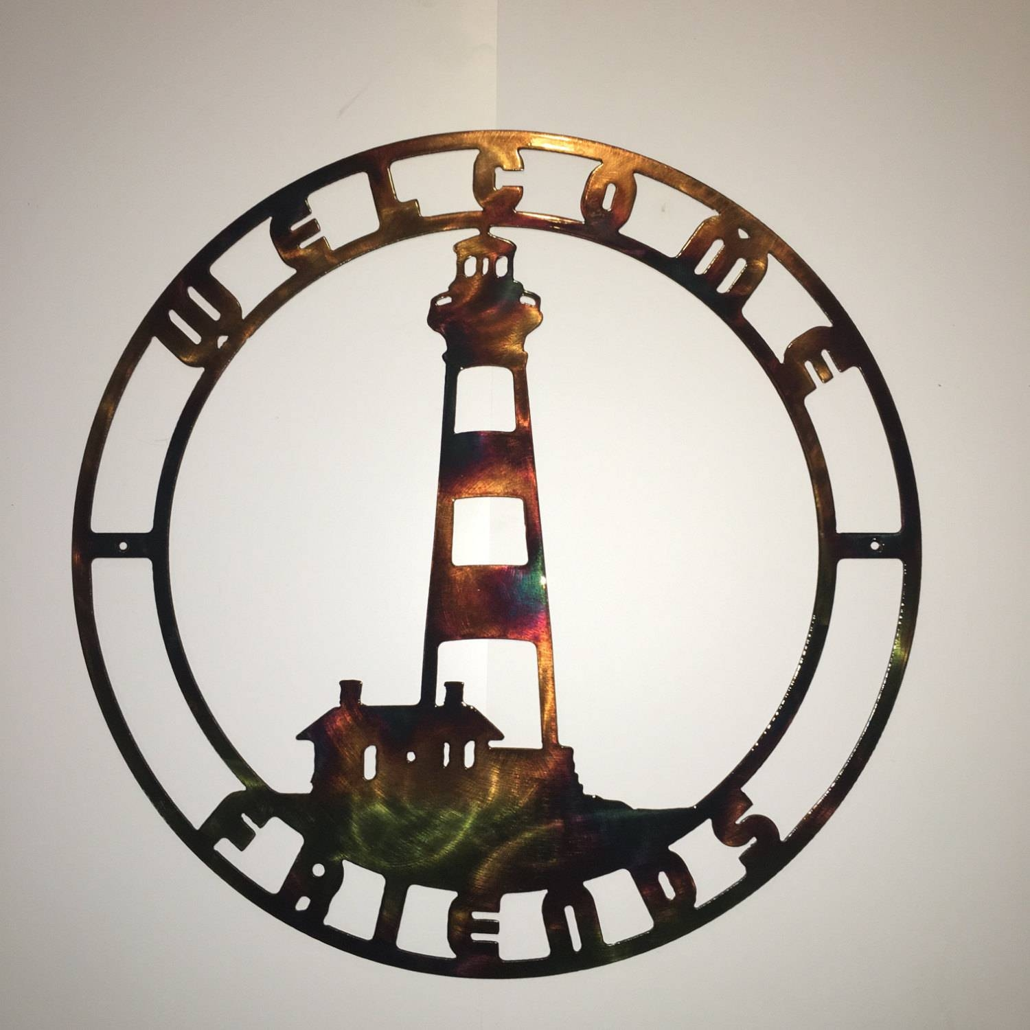Bodie Island Nc Lighthouse Indoor Or Outdoor Plasma Cut Metal Wall Art Intended For Current Lighthouse Metal Wall Art (View 8 of 20)