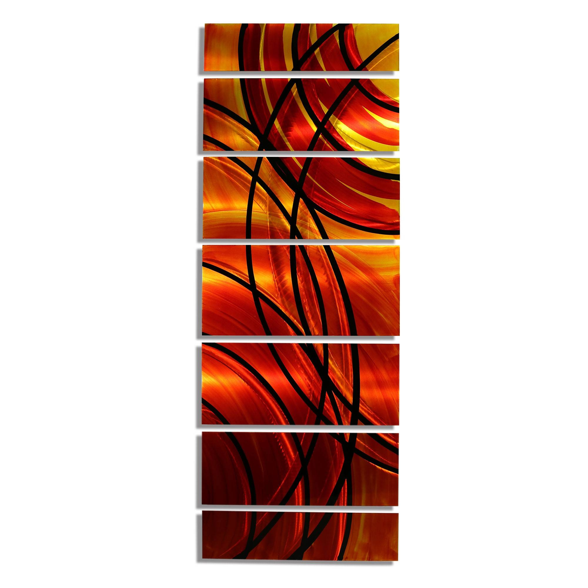 Boundfire Xl – Extra Large, Colorful Red And Orange Metal Wall With Regard To Most Recent Orange Metal Wall Art (View 9 of 20)