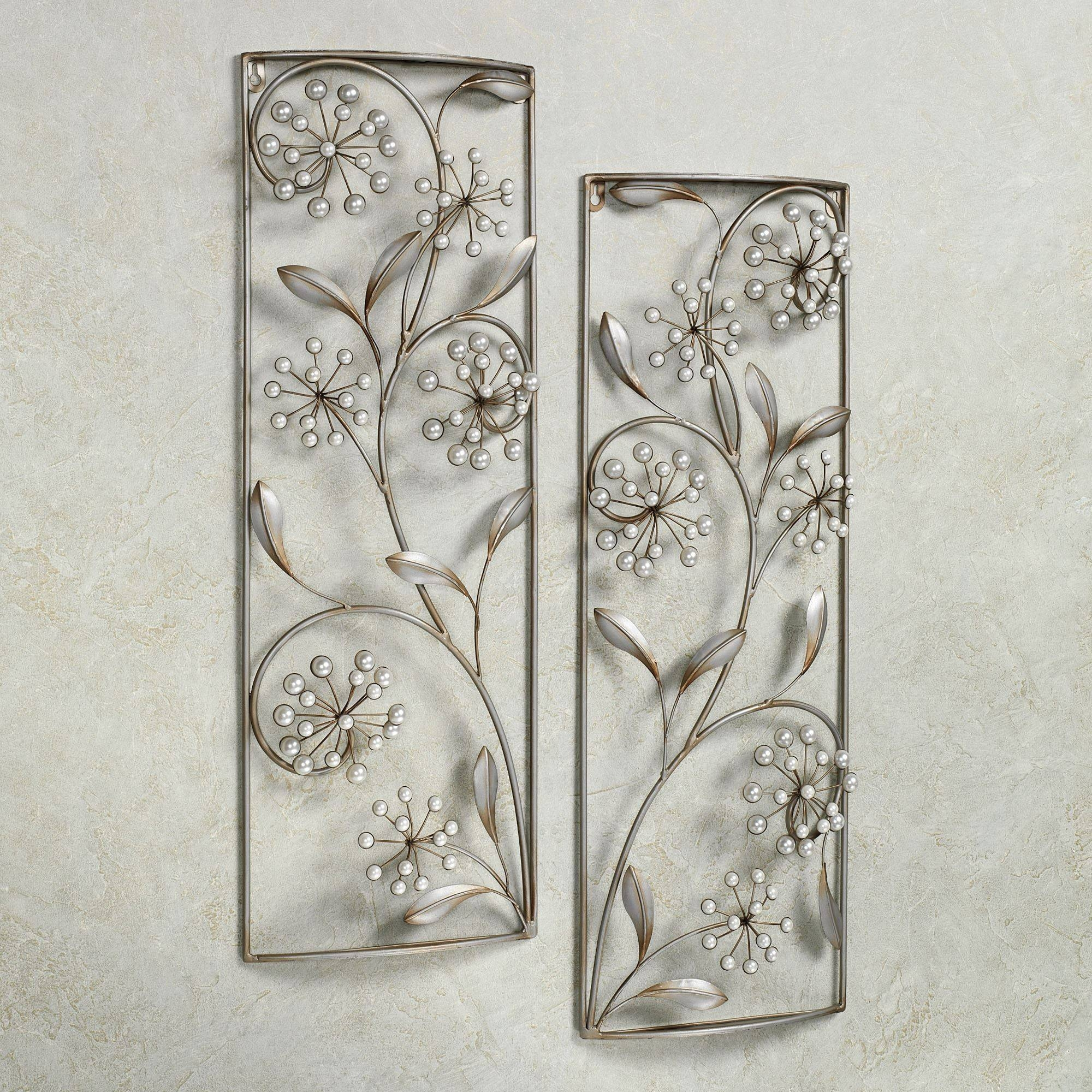 Breathtaking Pearlette Wall Panel Set Champagne Silver Metal Wall With Regard To Most Up To Date Wood Framed Metal Wall Art (View 3 of 20)