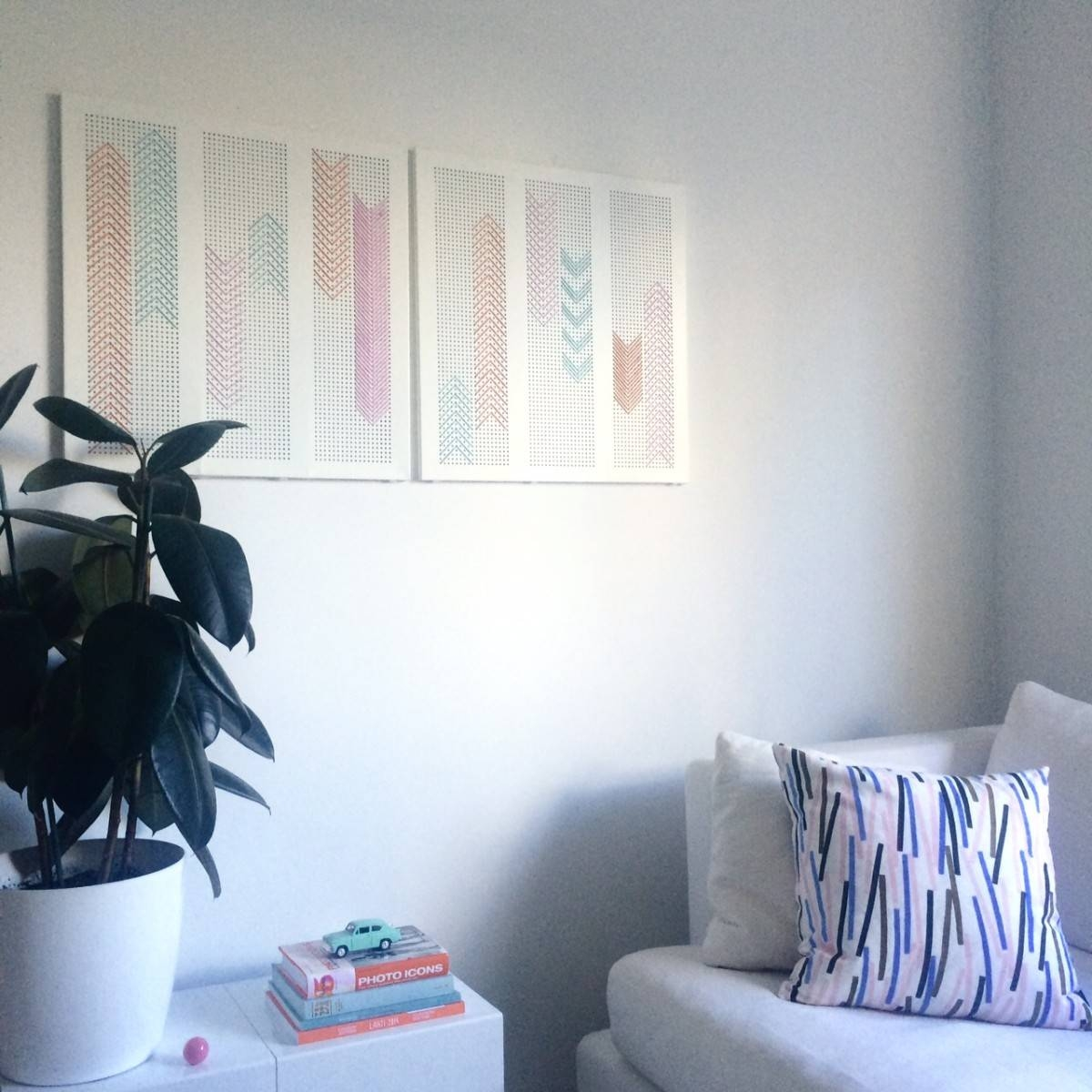 Broken Algot Shelf To Wall Art For Living Room – Ikea Hackers In 2018 Ikea Metal Wall Art (View 2 of 20)