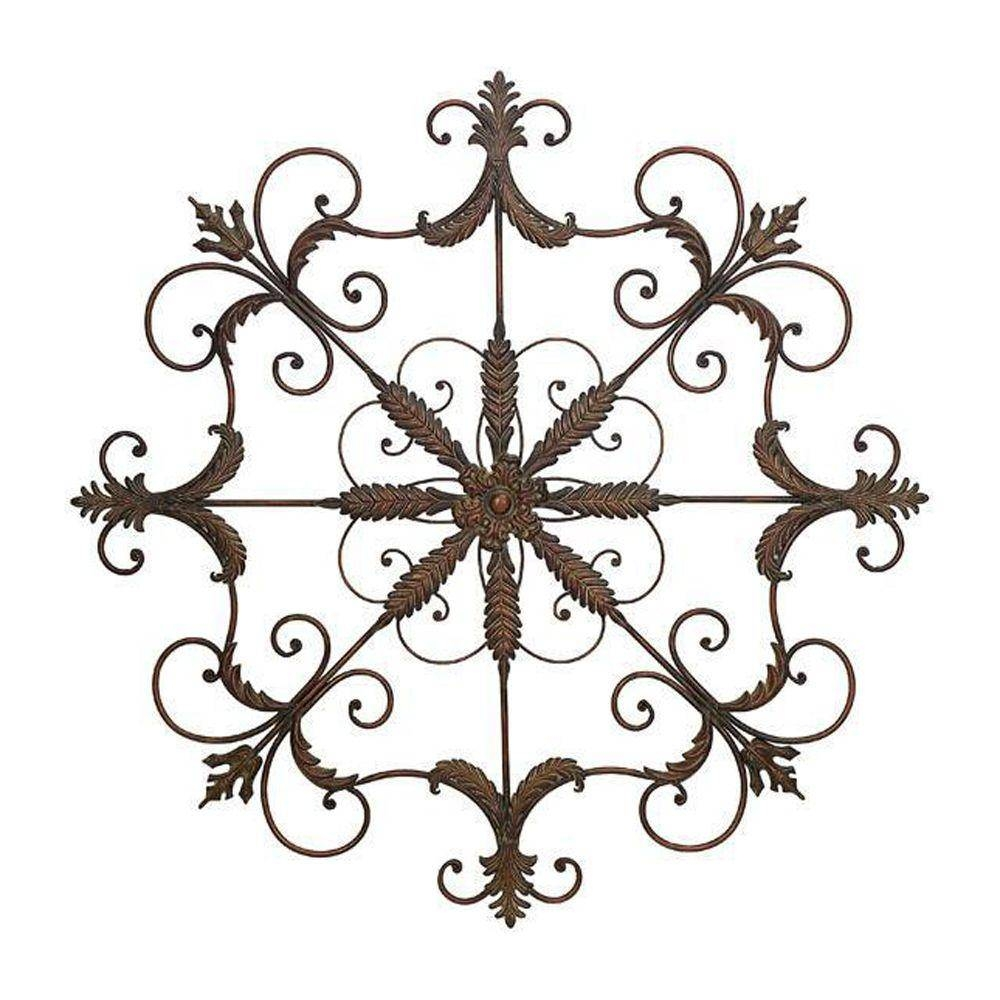 Brown/rust – Dimensional Wall Art – Art – The Home Depot With Newest Tuscan Metal Wall Art (View 18 of 20)