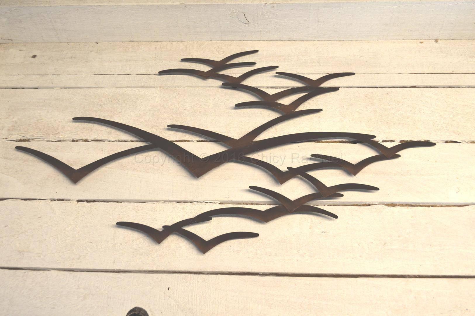 Brown Seagull In Flight Wall Art – Chicy Rachael Regarding Most Popular Seagull Metal Wall Art (View 2 of 20)