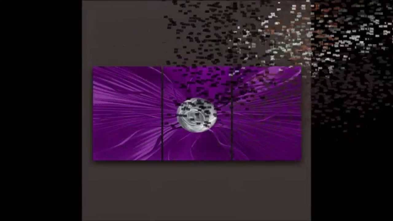 Brushed Metal Wall Art Queensland – Queensland Brushed Metal Art With Regard To Most Recently Released Purple Metal Wall Art (View 2 of 20)