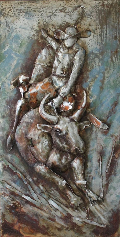 Bucking Horse 3D Metal Wall Art Hand Painted – Metal Wall Art In Most Up To Date Painted Metal Wall Art (View 3 of 20)