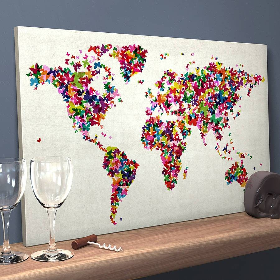 Featured Photo of Butterfly Map Wall Art