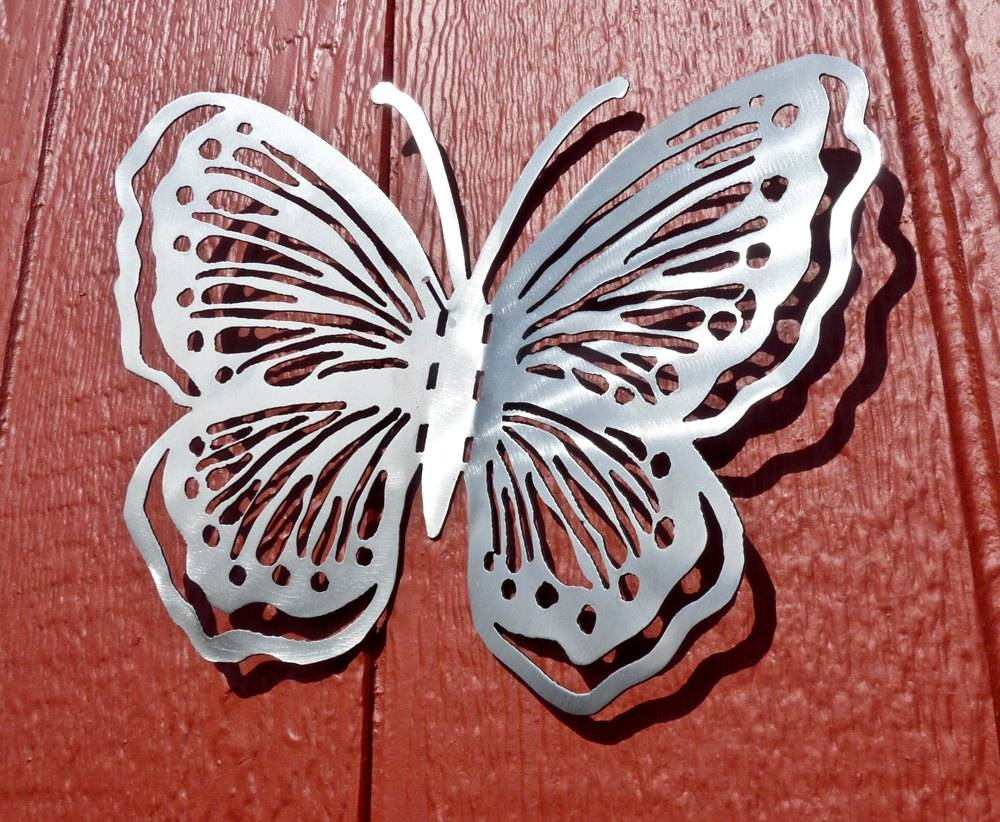 Butterfly Metal Wall Art Style 1 Metal Art Home Decor Inside Most Popular Butterfly Metal Wall Art (View 11 of 20)