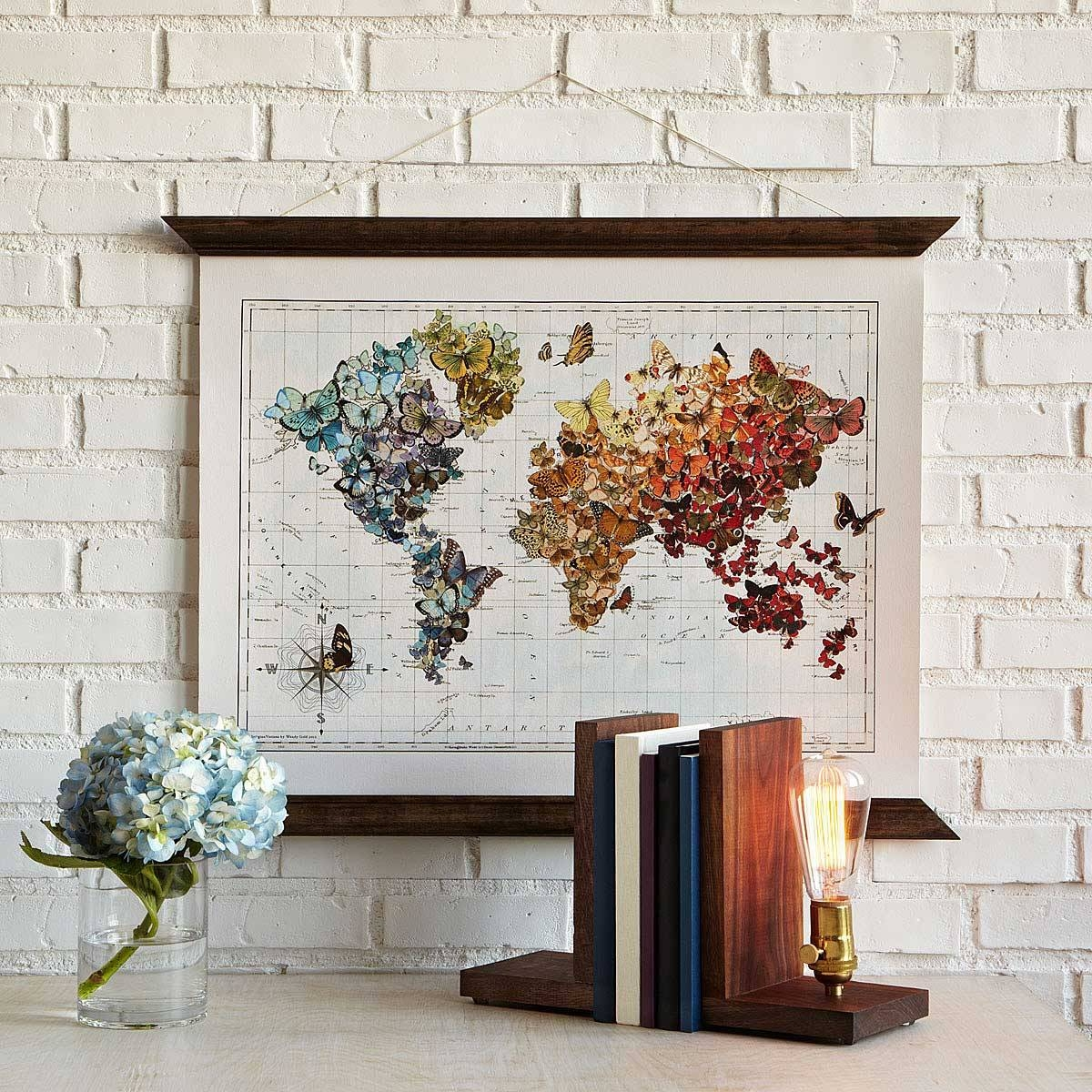 Butterfly | World Map Art | Uncommongoods Regarding Most Recently Released Butterfly Map Wall Art (View 4 of 20)