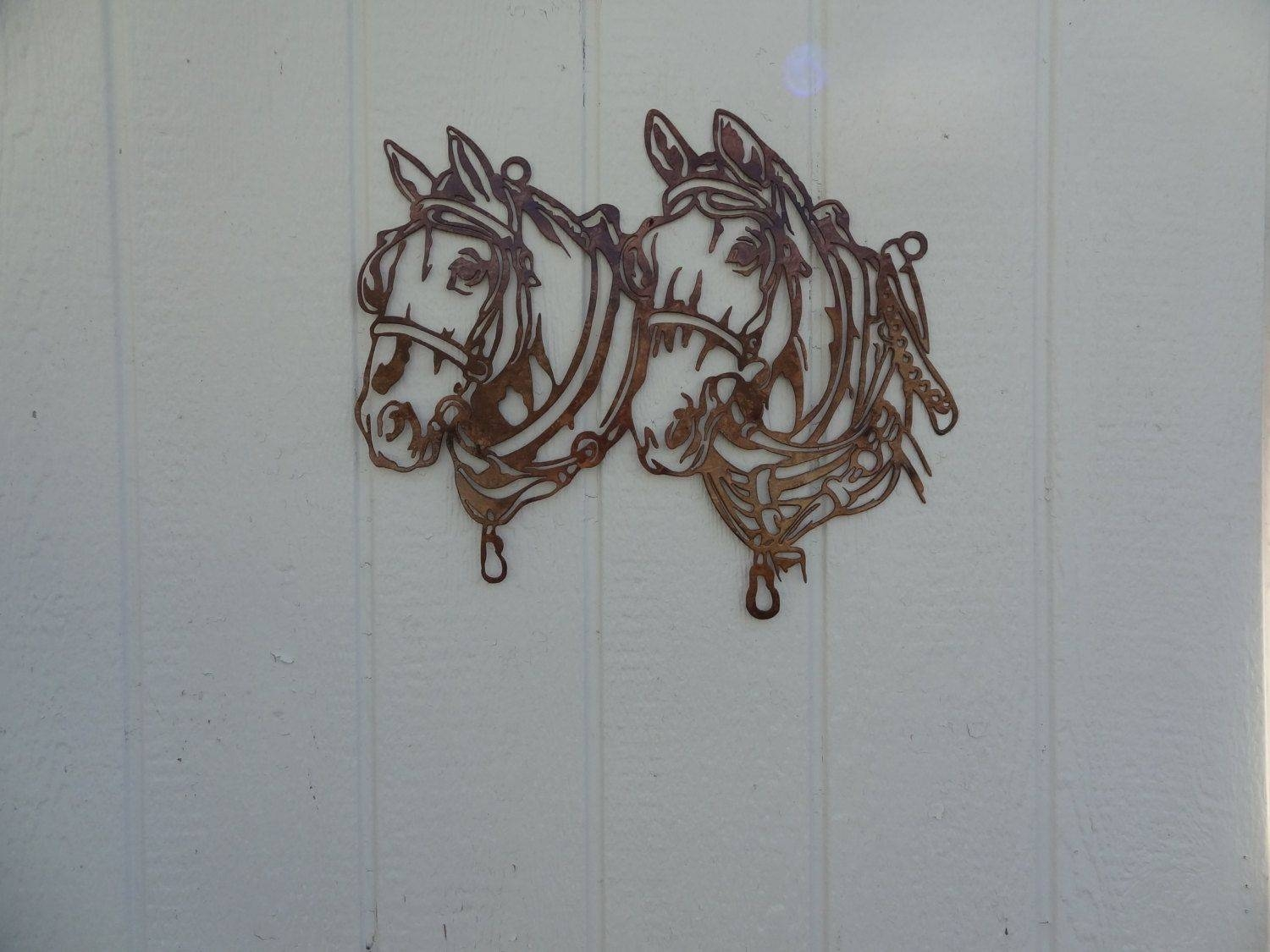 Buy A Hand Crafted Draft Horse Head Metal Wall Art Country Rustic Regarding Newest Home Metal Wall Art (View 4 of 20)