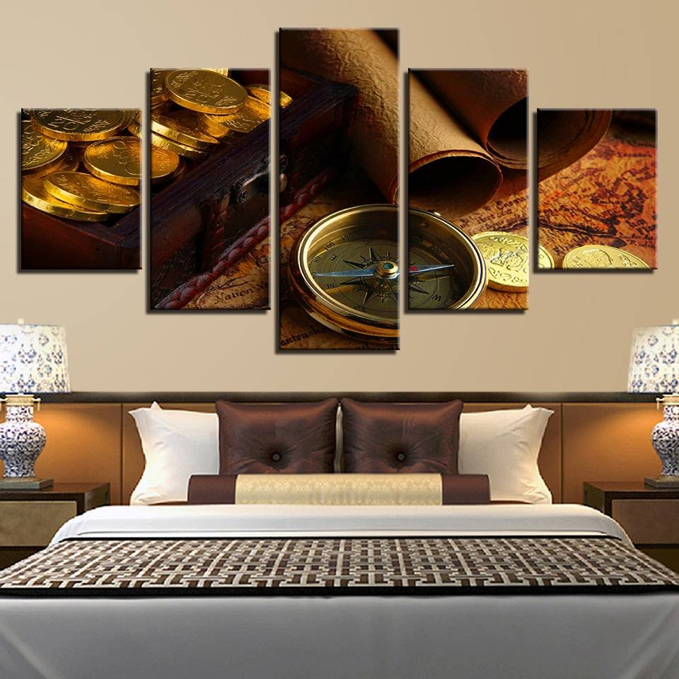 Buy Treasure Map Wall Art And Get Free Shipping On Aliexpress With Regard To Most Up To Date Treasure Map Wall Art (View 7 of 20)