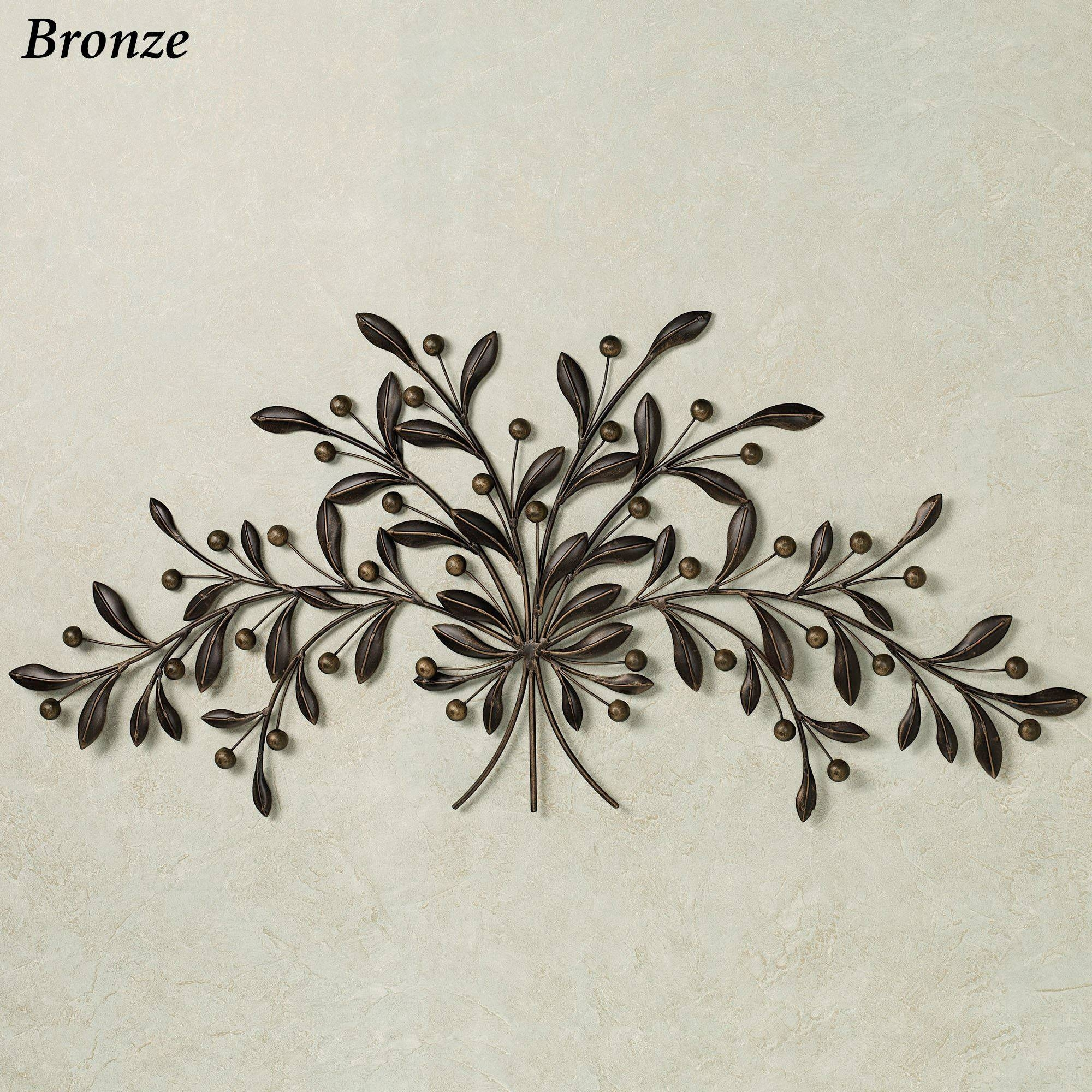 Cantabria Branch Metal Wall Art Spray In Best And Newest Metal Wall Art Branches (View 11 of 20)