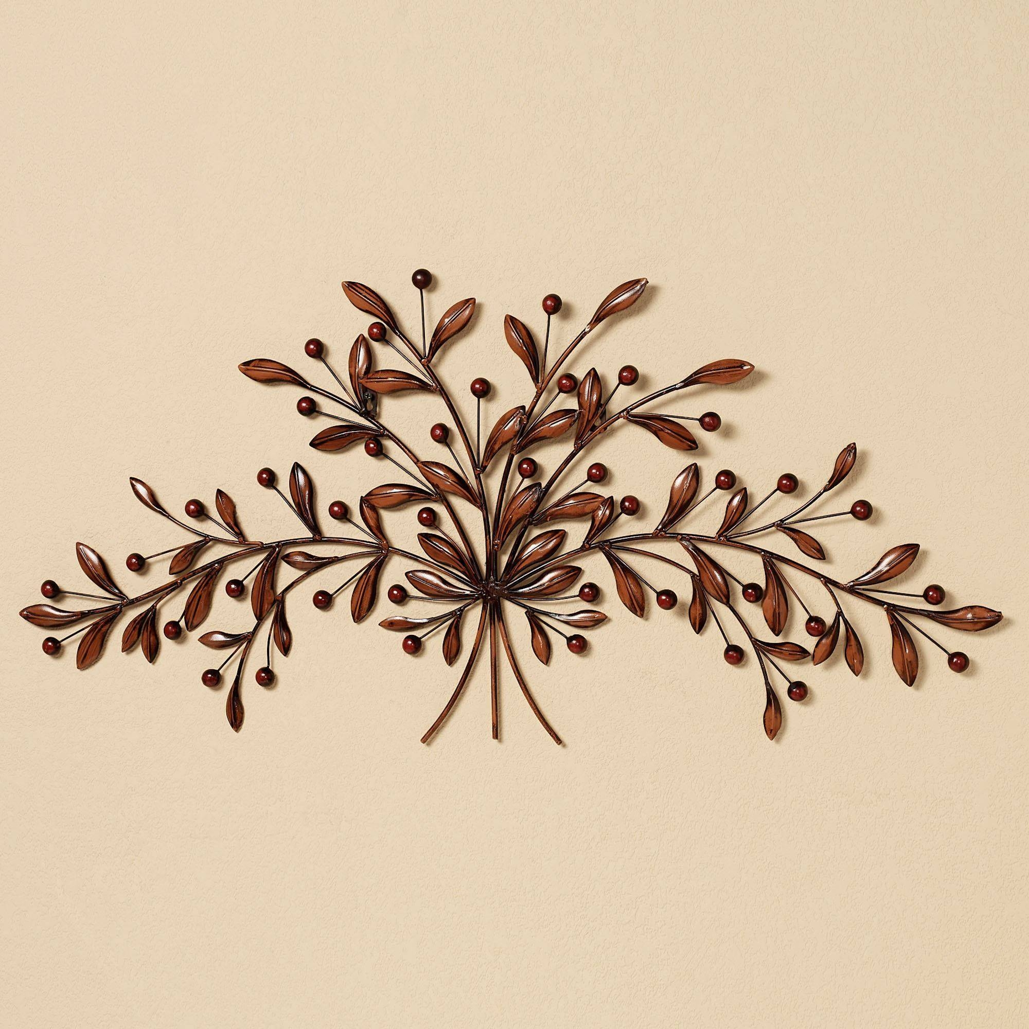 Cantabria Branch Metal Wall Art Spray Pertaining To 2018 Metal Wall Art Leaves (View 14 of 20)