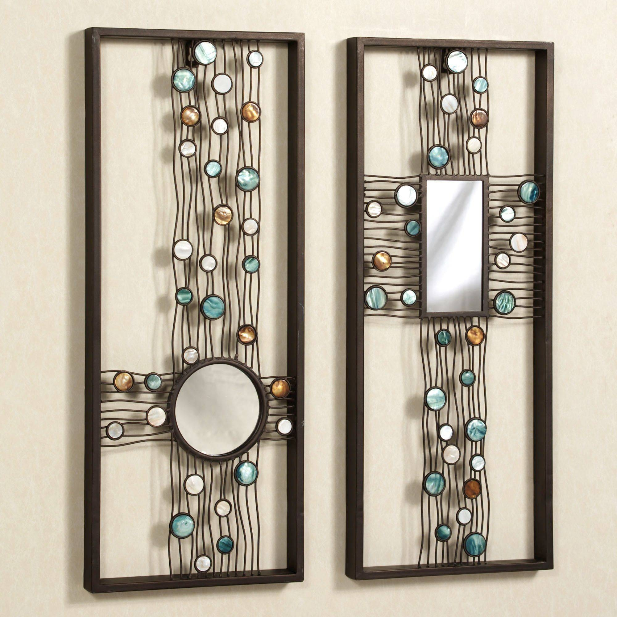 Capizia Metal Wall Panel Art Set Intended For Most Recently Released Metal Wall Art With Mirrors (View 1 of 20)