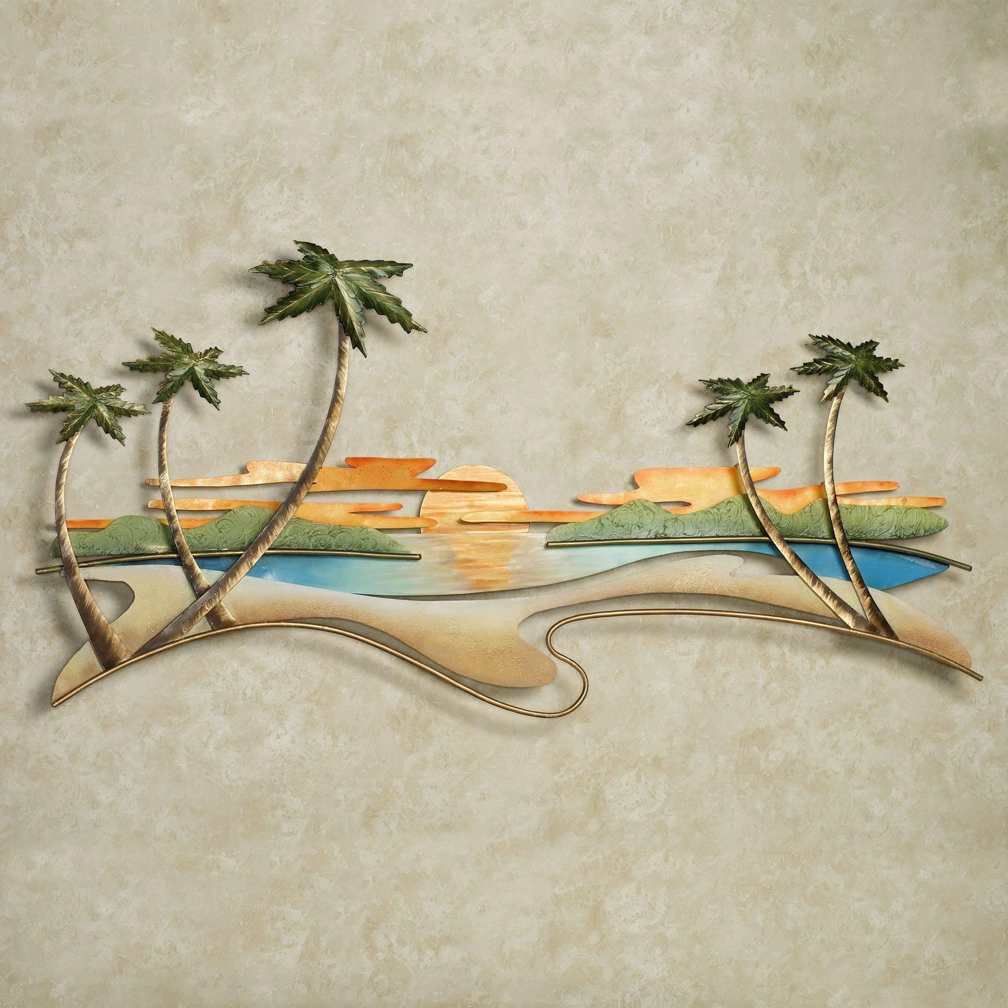 Caribbean Sunset Metal Wall Sculpturejasonw Studios Inside Most Popular Tropical Metal Wall Art (View 8 of 20)