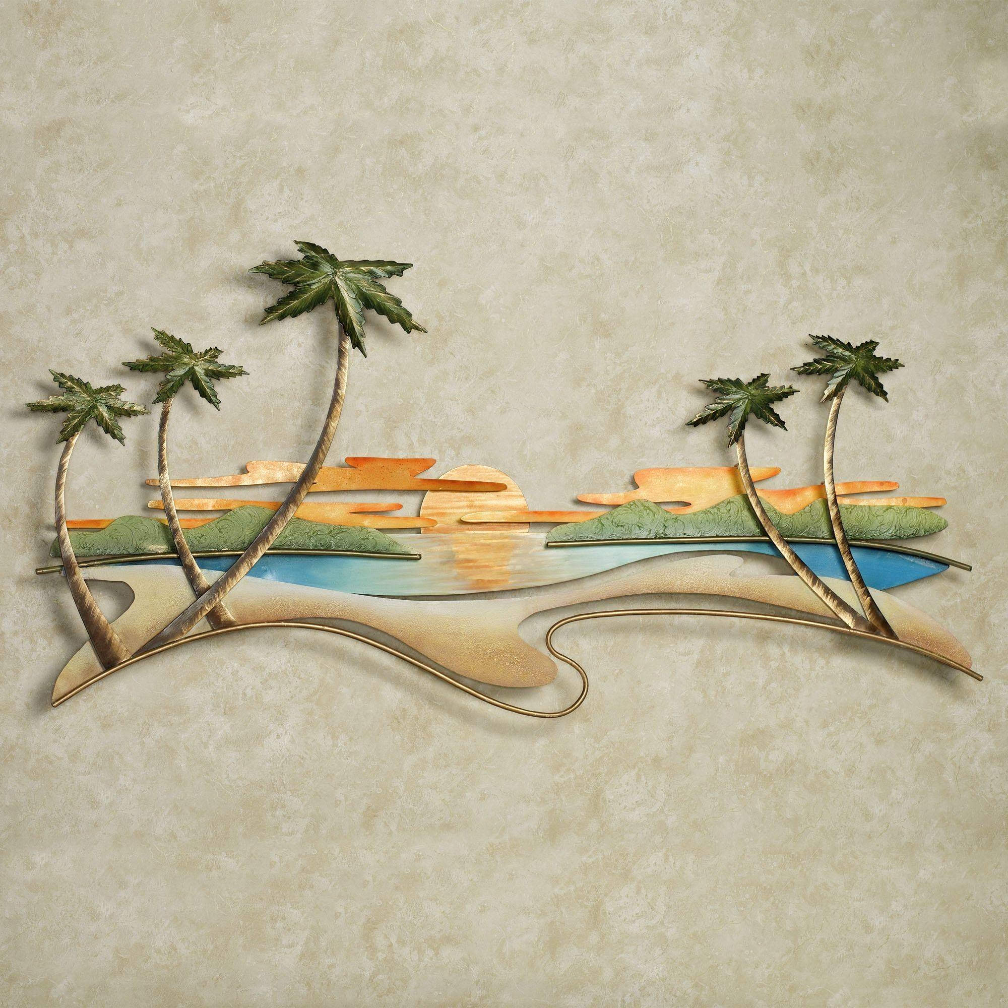 Caribbean Sunset Metal Wall Sculpturejasonw Studios Pertaining To 2017 Caribbean Metal Wall Art (View 6 of 20)