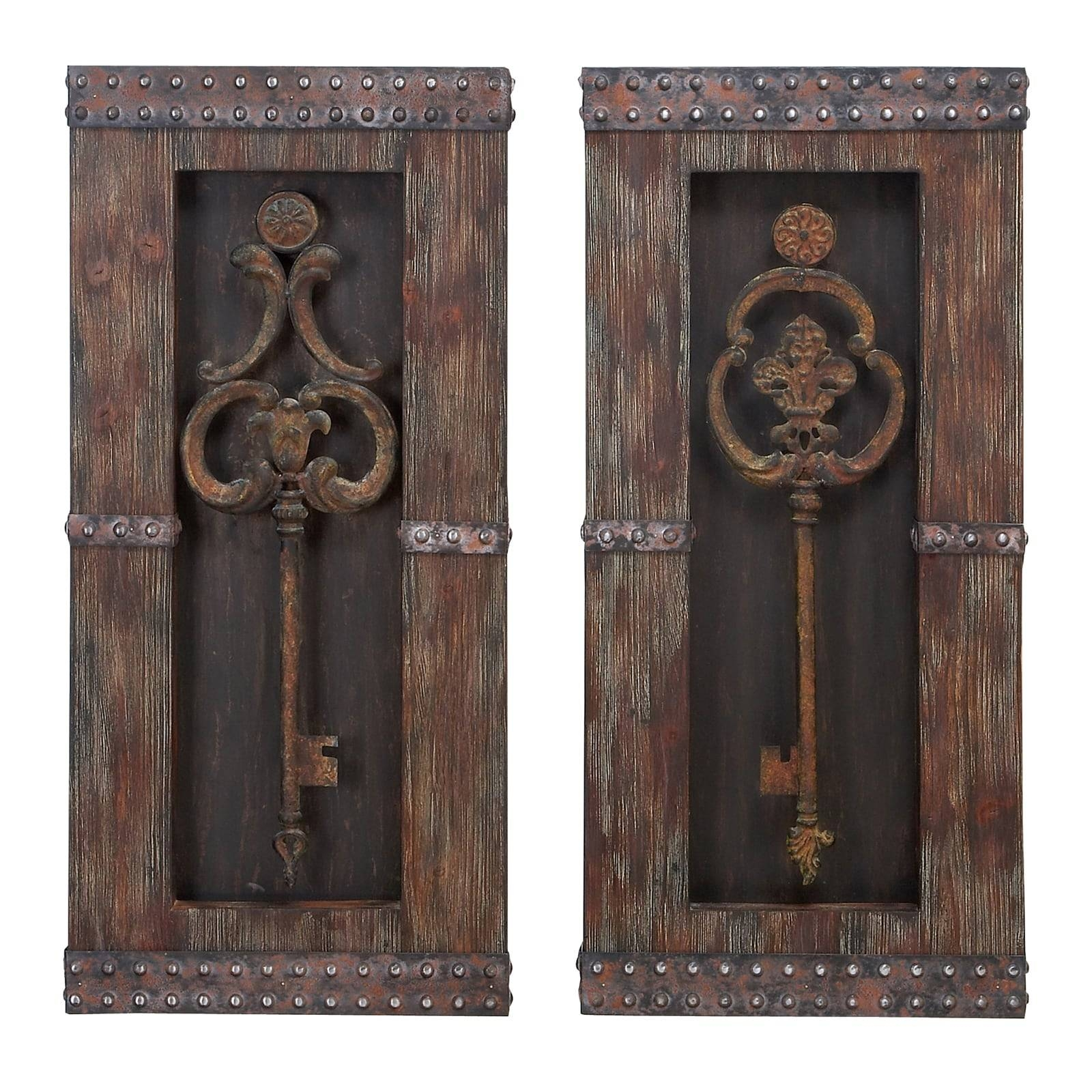 Casa Cortes Vintage Metal Keys 2 Piece Wall Art Decor Set – Free With Most Recently Released Overstock Metal Wall Art (View 1 of 20)