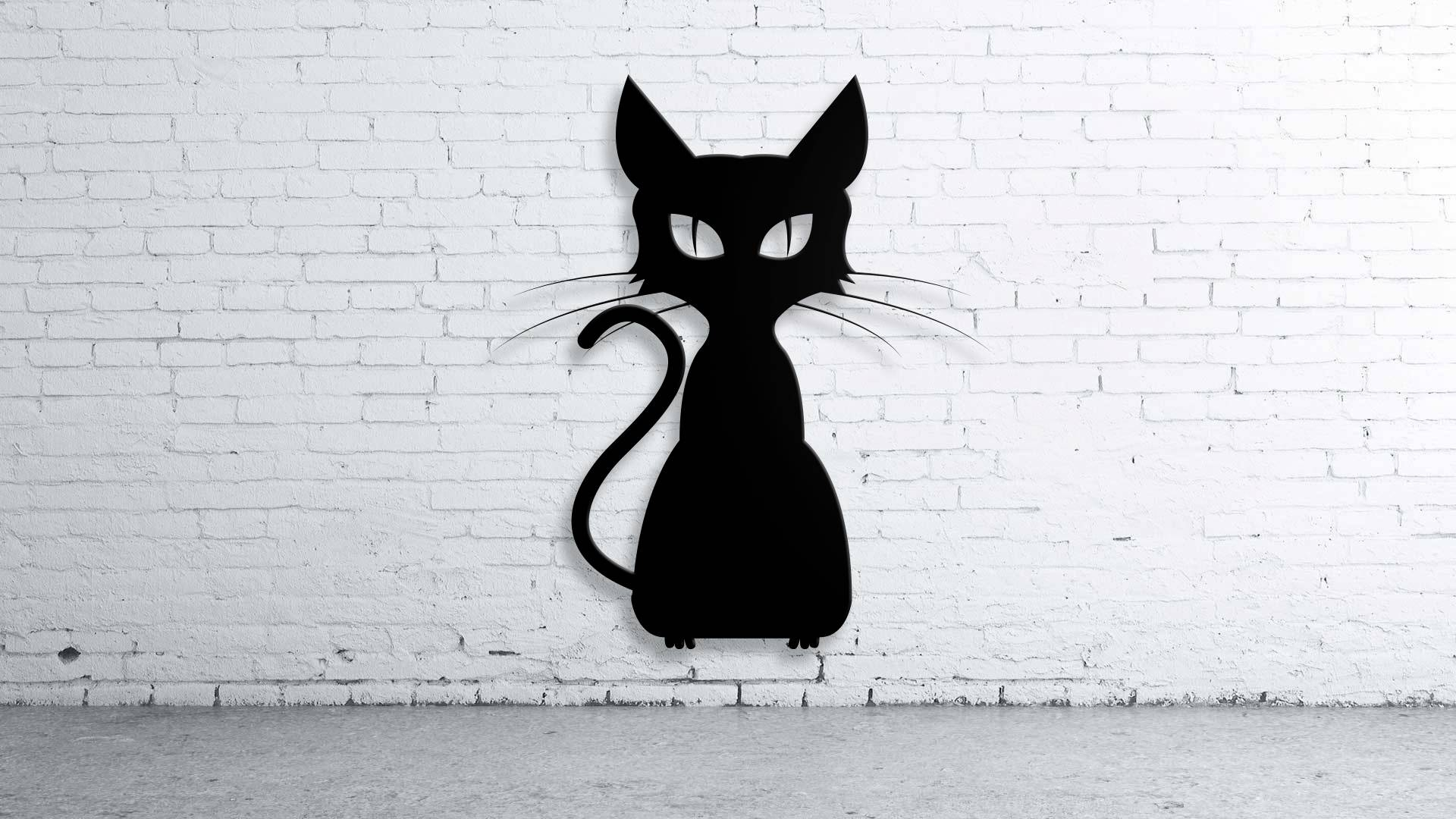 Cat Halloween, Custom Metal Sign , Custom Family Name, Wall Art Inside Most Popular Cat Metal Wall Art (View 5 of 20)