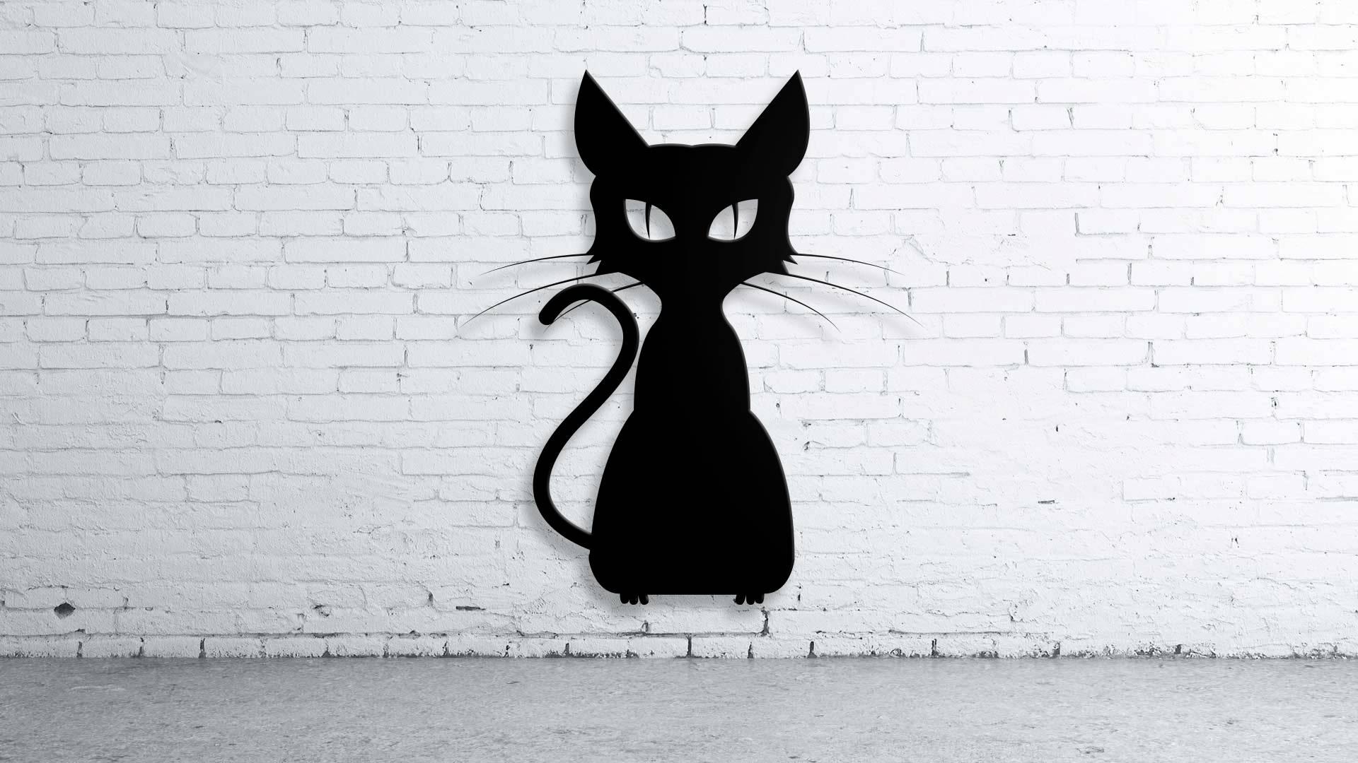 Cat Halloween, Custom Metal Sign , Custom Family Name, Wall Art Inside Most Popular Cat Metal Wall Art (View 15 of 20)