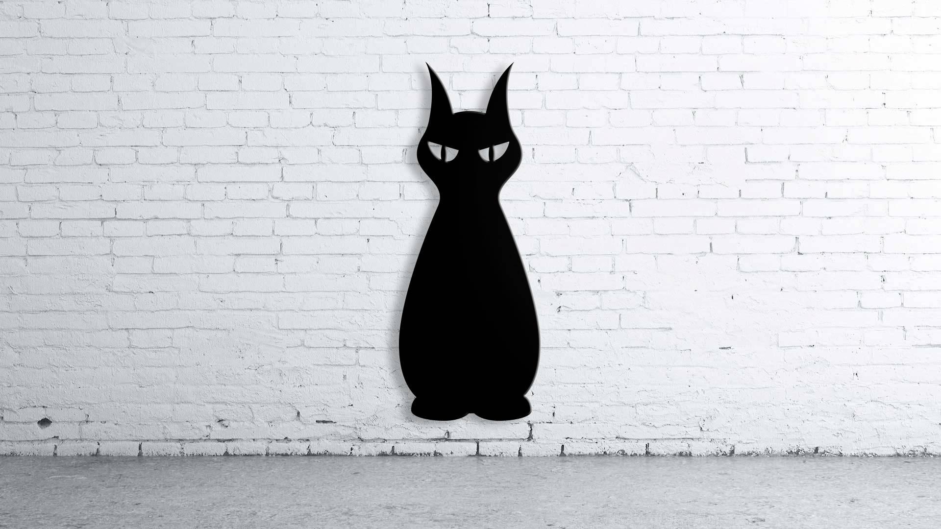 Cat Halloween, Wall Art,custom Sign, Family Name, Aluminum Steel In Current Cat Metal Wall Art (View 6 of 20)
