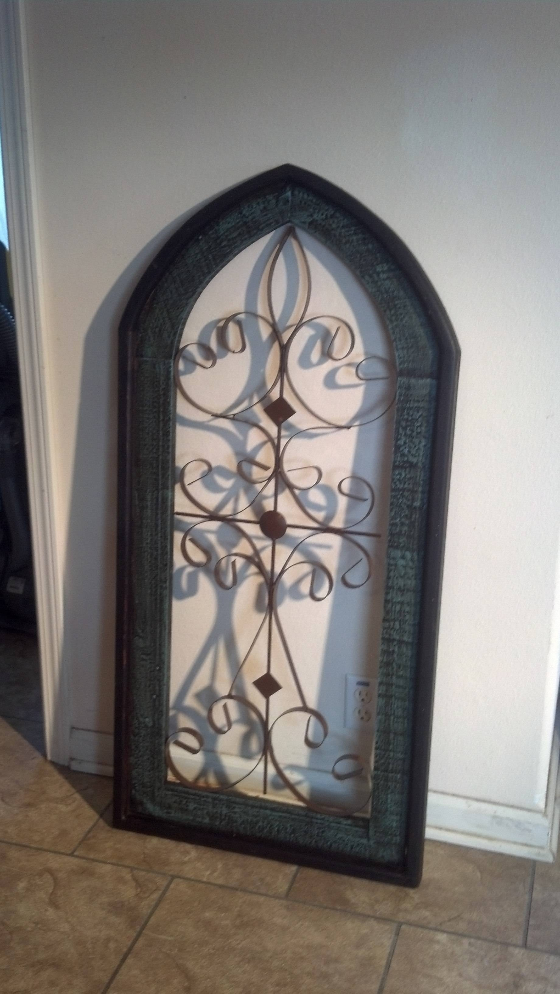 Cathedral Wall Hanging Window Metal Wood Wall Decor | Westwood In 2018 Wood And Metal Wall Art (View 13 of 20)