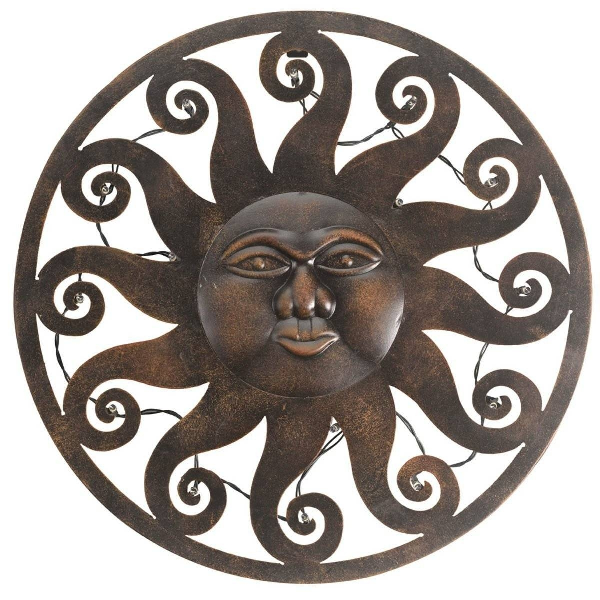 Celestial Sun Led Wall Art | Available At This Is It Stores Uk Intended For 2017 Garden Metal Wall Art (View 14 of 20)
