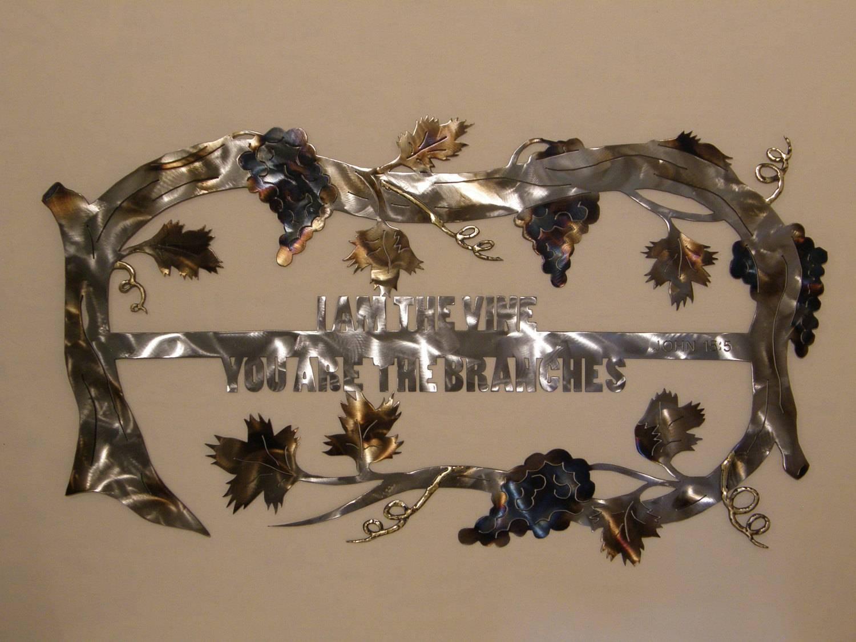 Christian Grape Vine Metal Wall Art Sculpture In Current Metal Wall Art Sculptures (View 4 of 20)