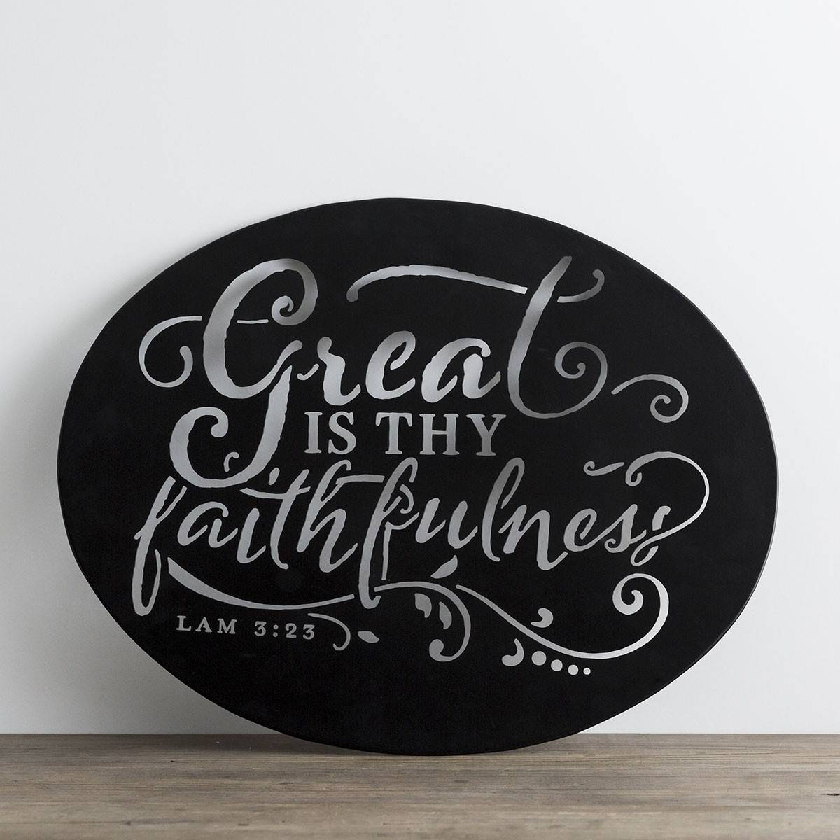 Christian Metal Wall Art – Great Is Thy Faithfulness | Dayspring With Recent Christian Metal Wall Art (View 5 of 20)