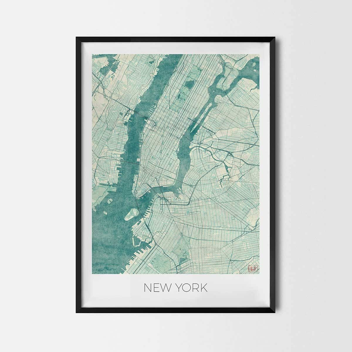 City Art Posters | Map Posters And Art Prints – Gifts For City In 2017 City Prints Map Wall Art (View 4 of 20)