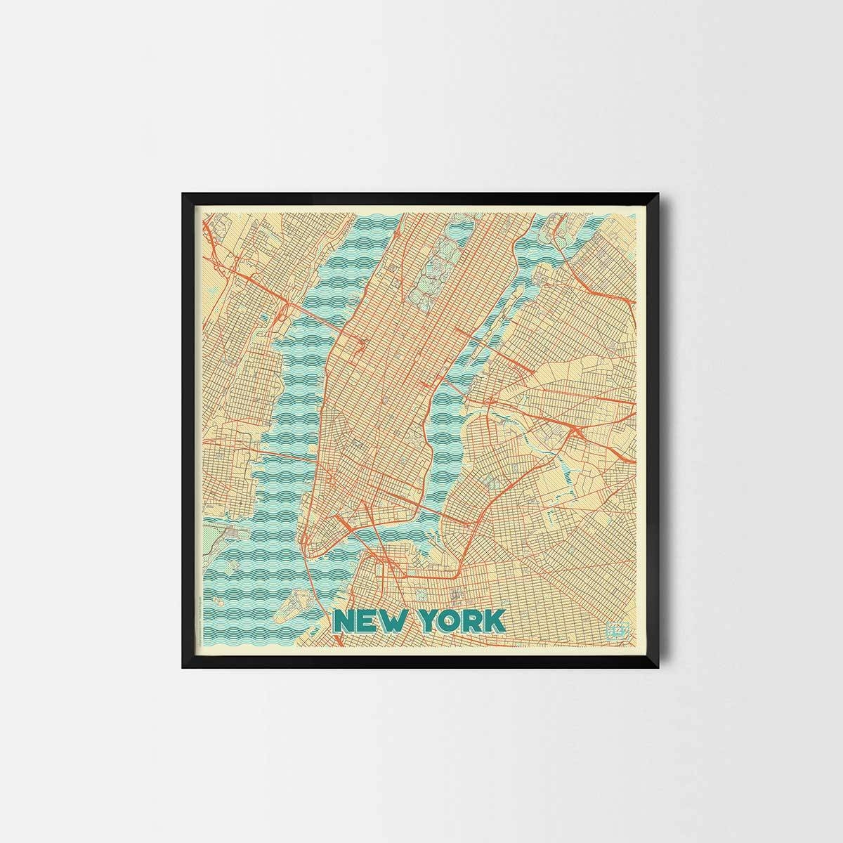 City Art Posters | Map Posters And Art Prints – Gifts For City Inside Newest New York City Map Wall Art (View 2 of 20)