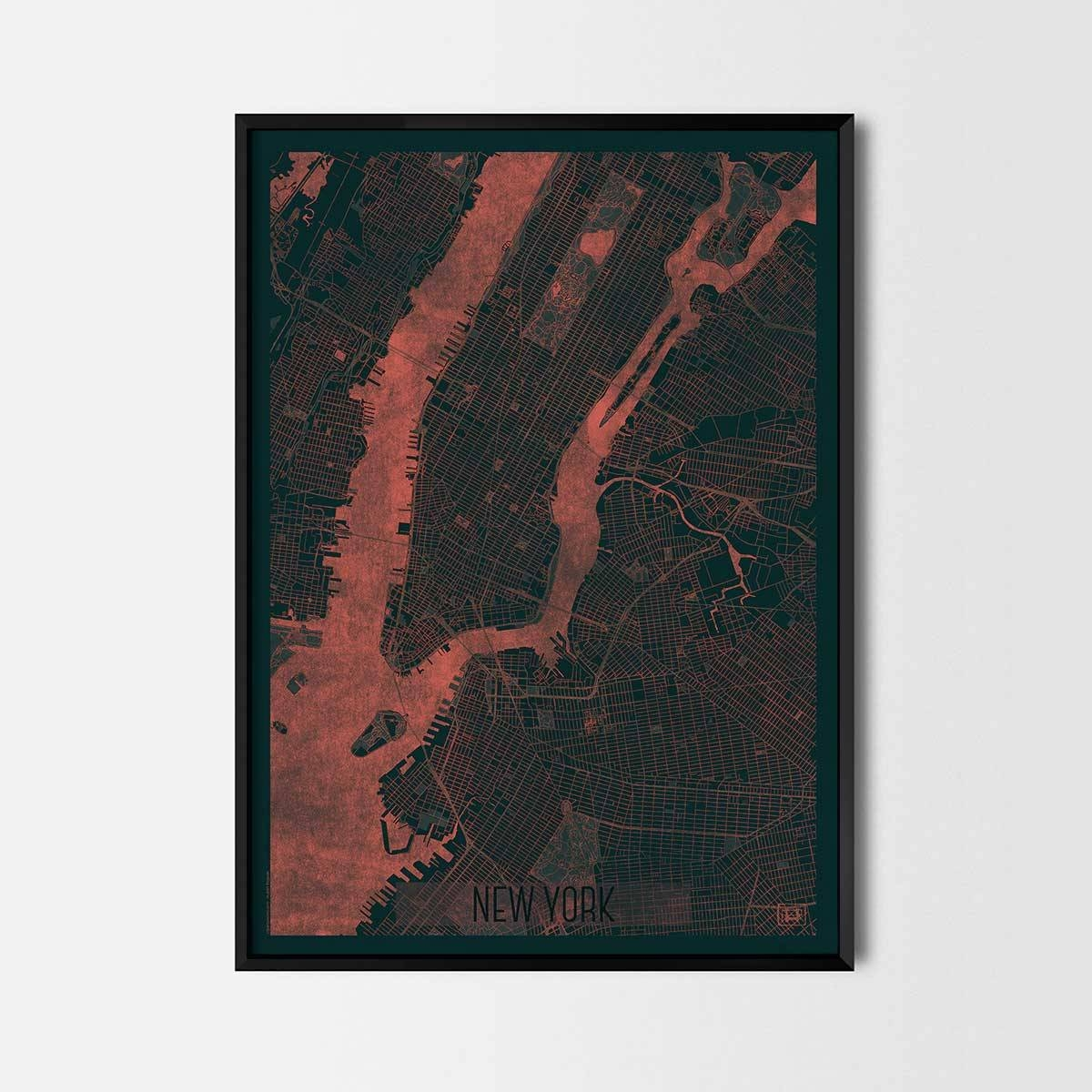 City Art Posters | Map Posters And Art Prints – Gifts For City Intended For Most Recently Released Custom Map Wall Art (View 17 of 20)