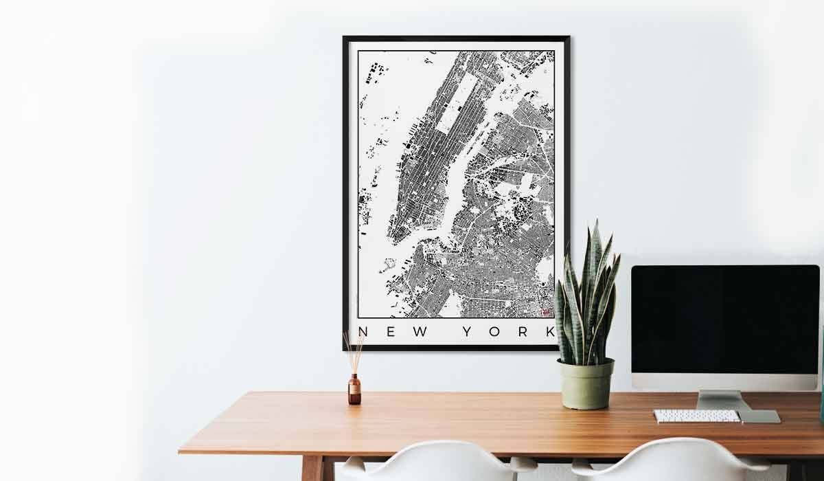 City Art Posters | Map Posters And Art Prints – Gifts For City With 2017 City Map Wall Art (View 2 of 20)